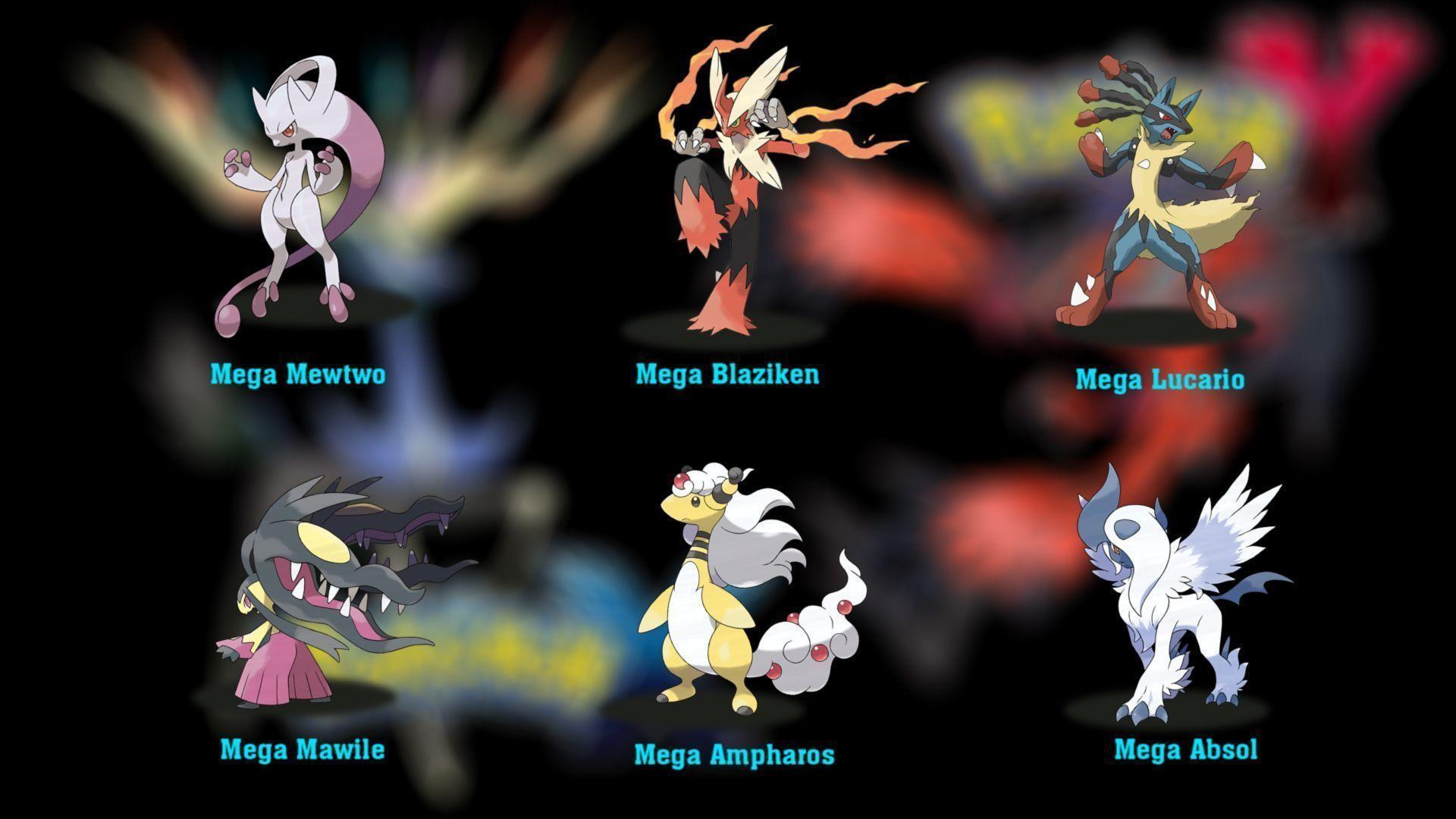 1920x1080 Pokemon Mega Evolution Wallpaper