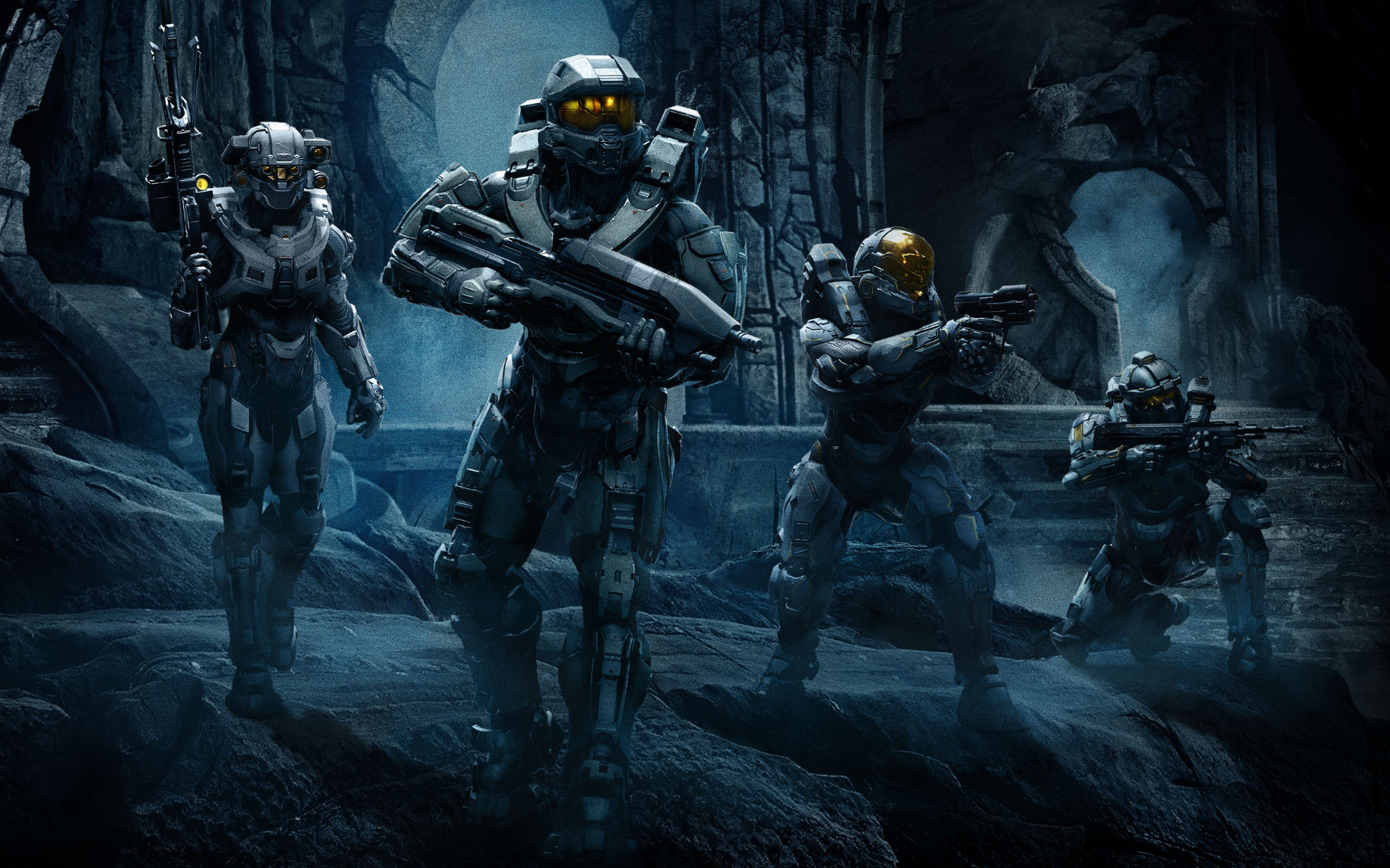 1920x1200 Good News Gaming: Halo Guardians Campaign Cinematic Introduces Blue Team