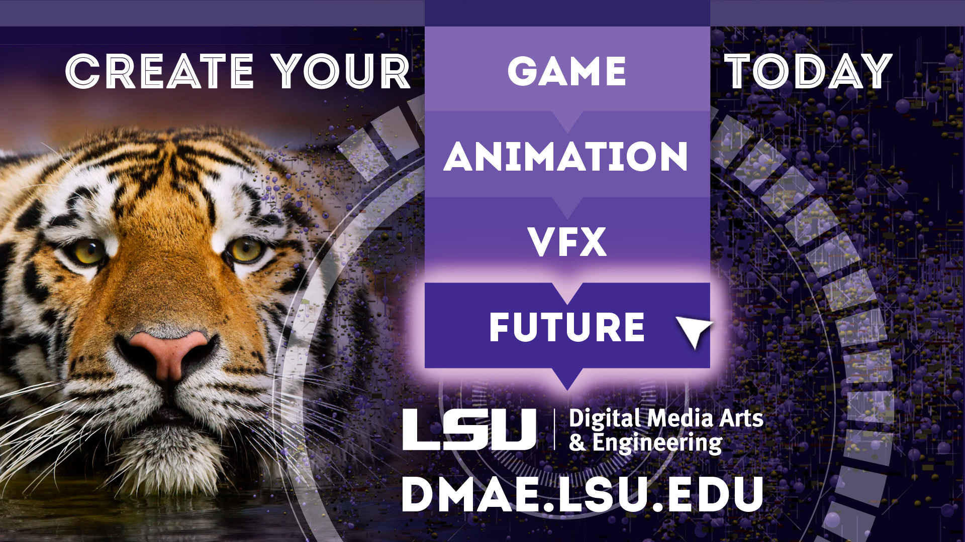 1920x1080 LSU Digital Media Arts & Engineering Master Degree (DMAE) Print  Advertisement