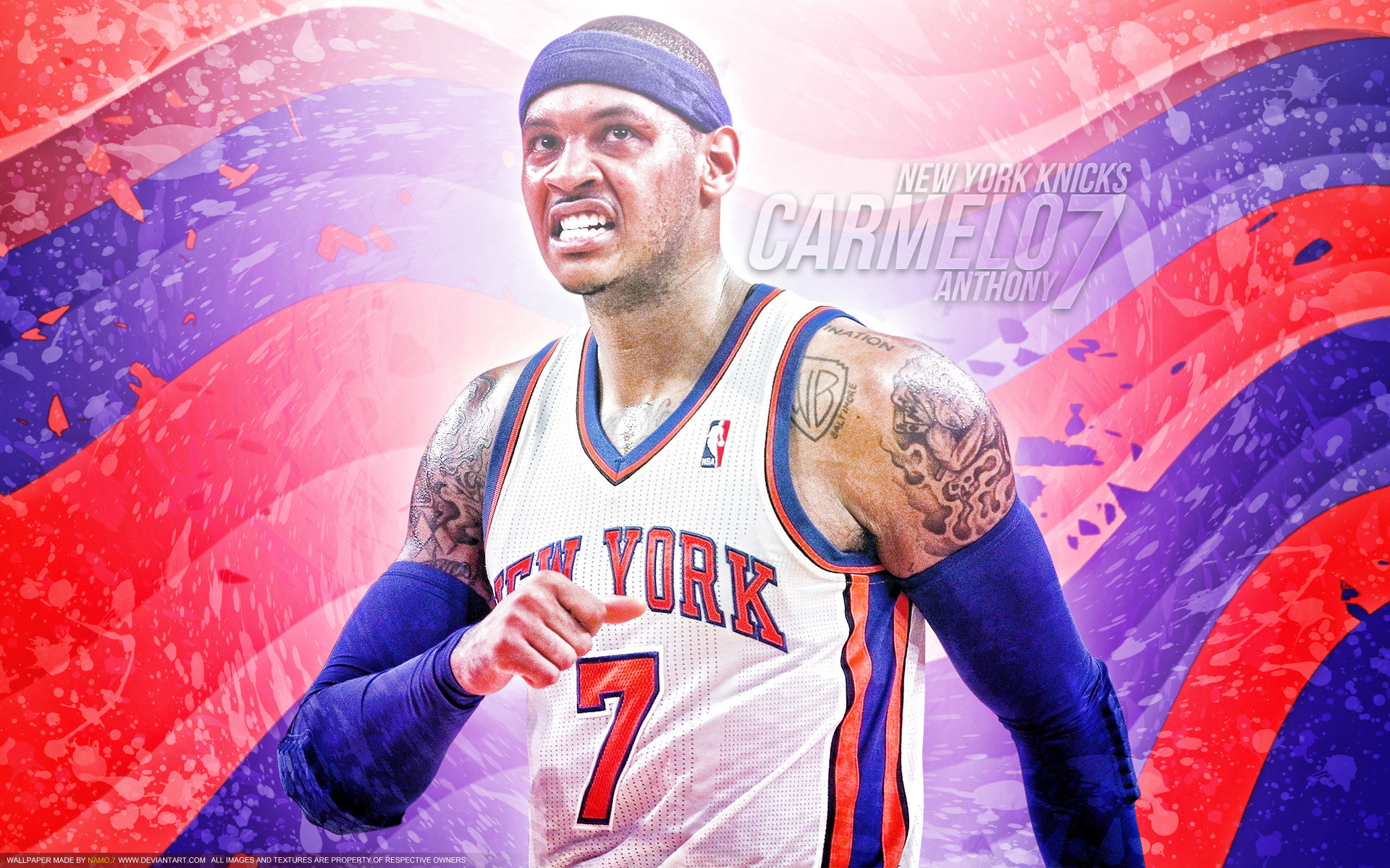 1920x1200 Carmelo Anthony New York Knicks 1920×1200 Wallpaper
