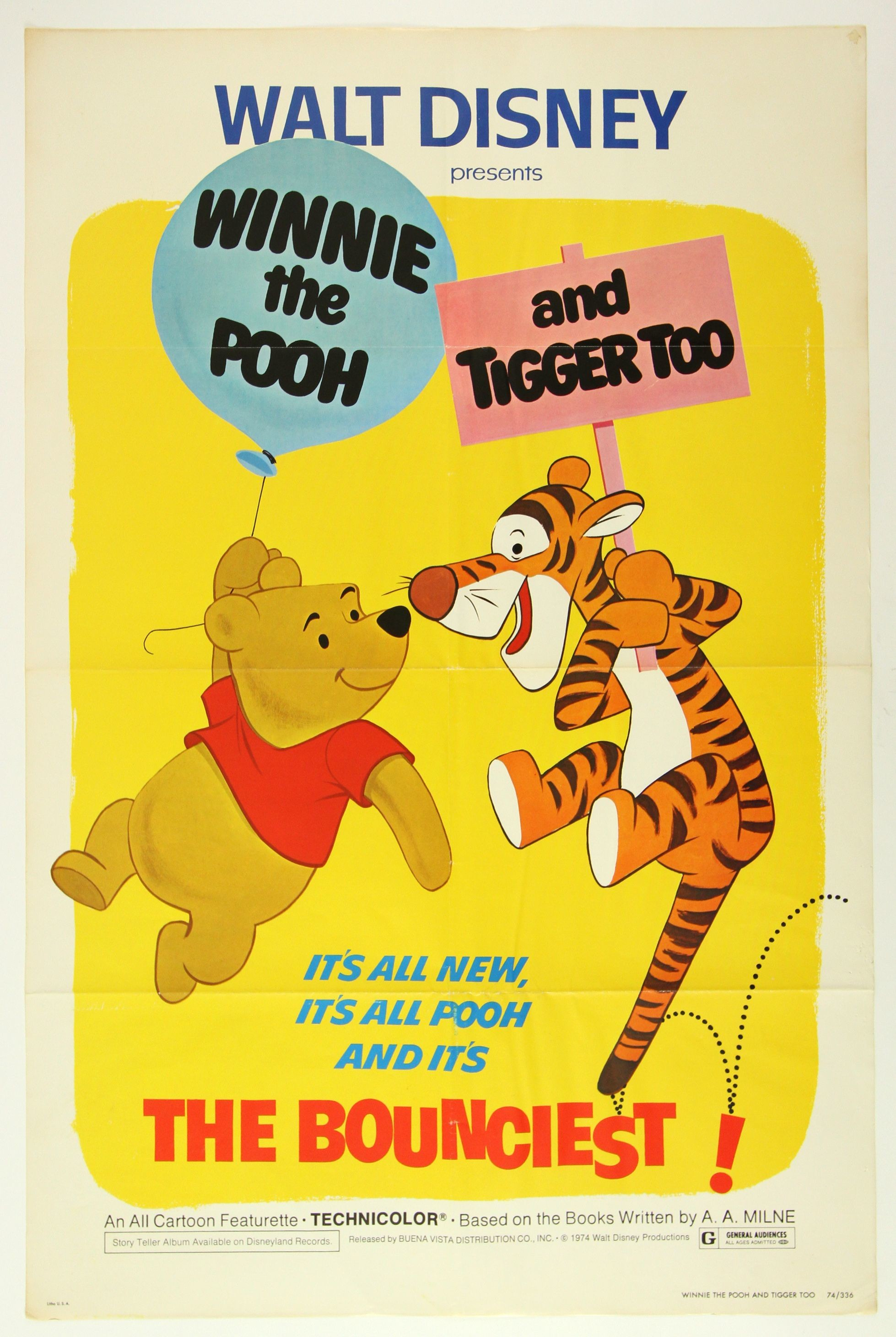 1958x2920 Lot Detail - 1974 Disney's Winnie the Pooh and Tigger ...