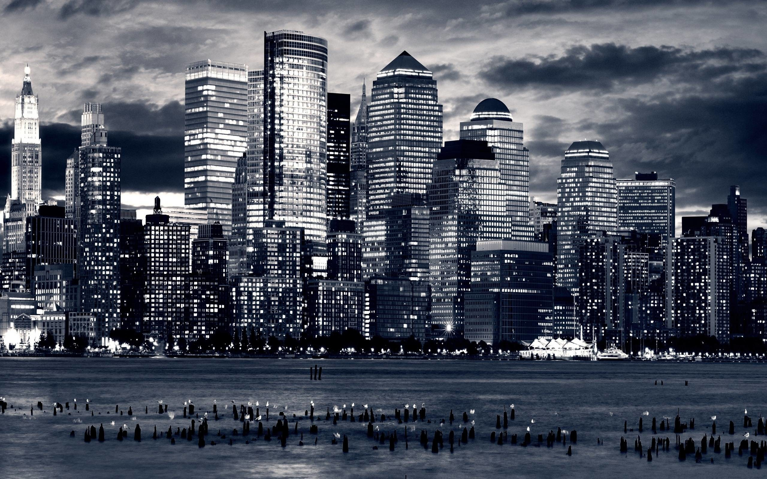 2560x1600 Black And White City Wallpaper For Walls 13625 Full Hd