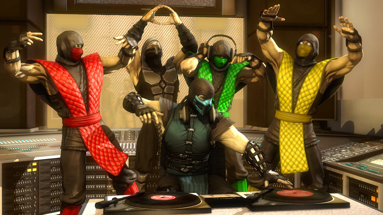 3840x1200 Sub-Zero by Hentiger5544 Mortal Kombat X Background, Scorpion vs. Sub-Zero by Hentiger5544