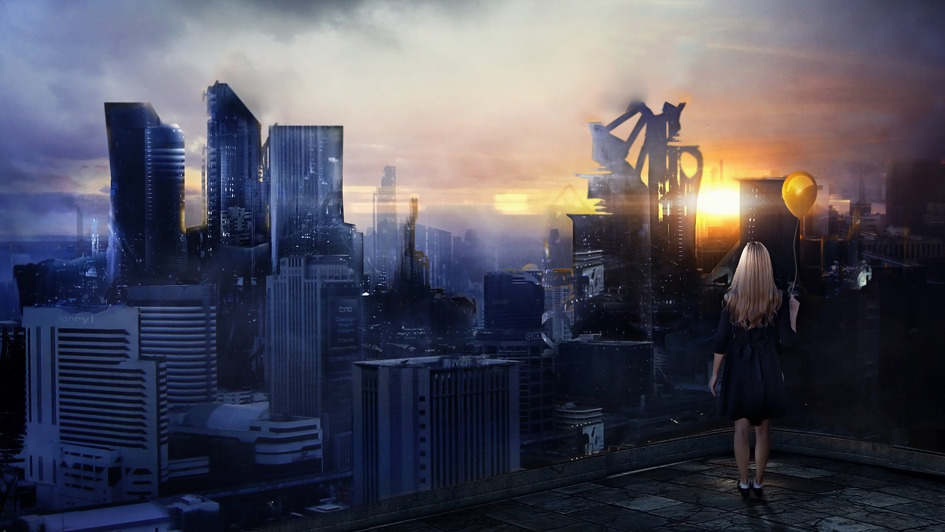 Futuristic City Wallpaper 1920x1080 75 Images