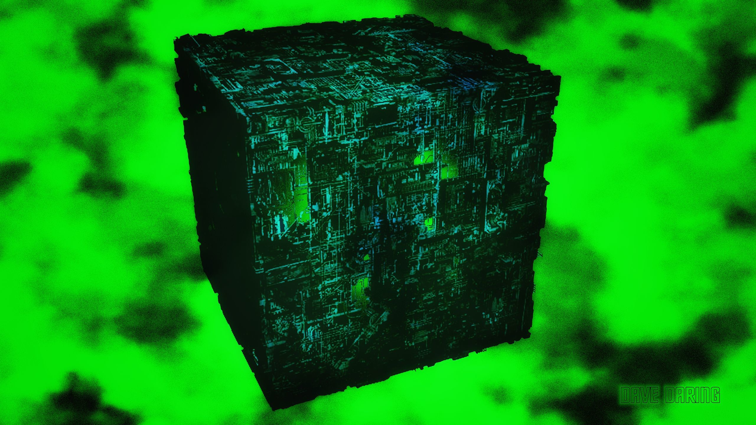 2560x1440 Borg Cube by Dave Daring
