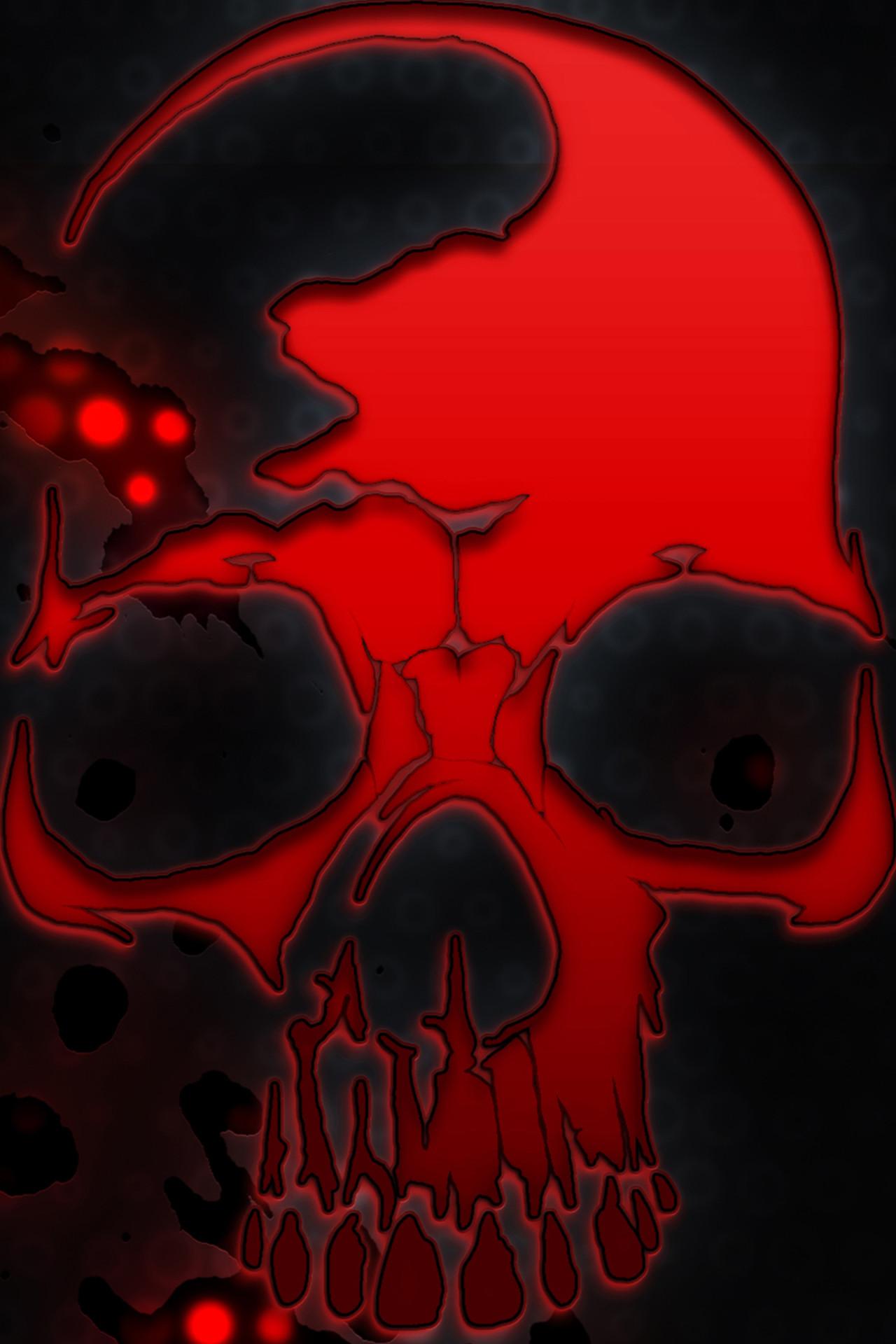 1280x1920 Zombie Skull Wallpaper Hd Style2 28 Jul