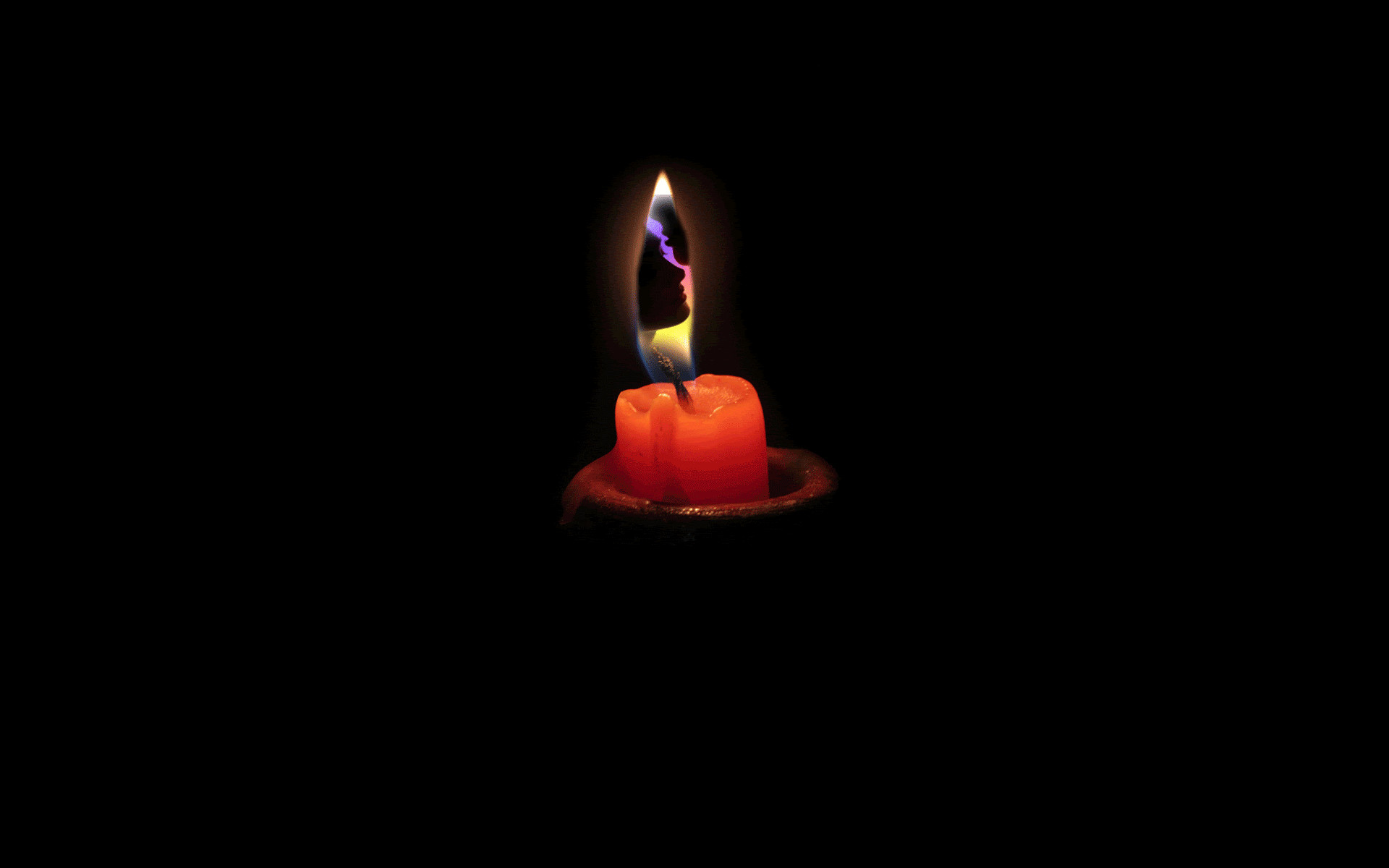 1920x1200 Candle Light Animated Black Wallpaper