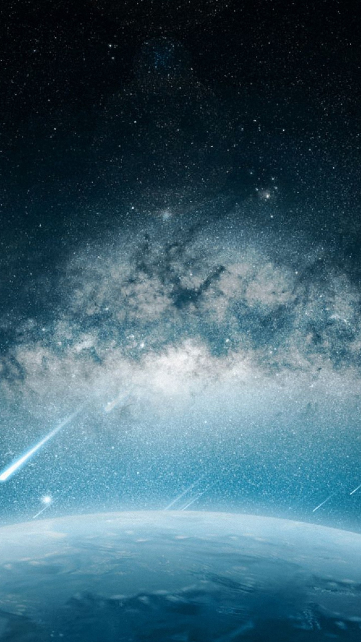 1440x2560 download space meteorite planet rain wallpaper for samsung galaxy s6