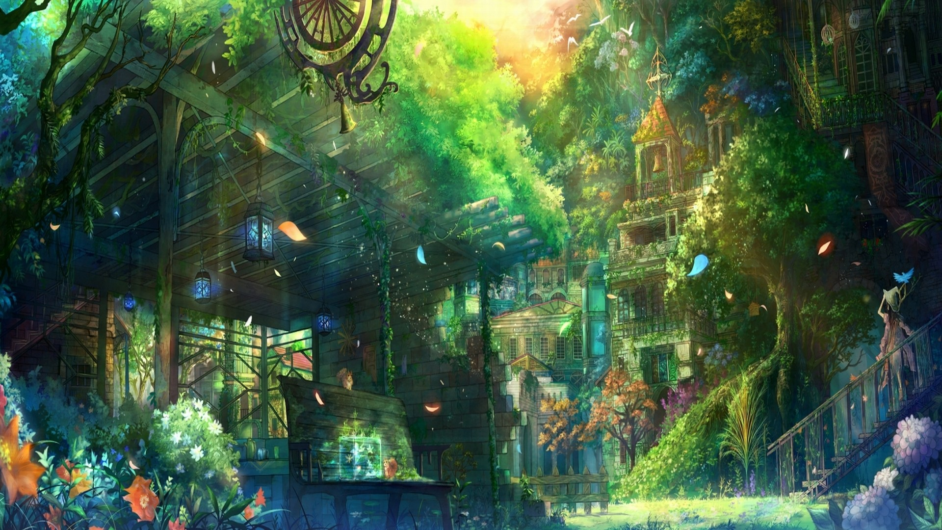 1920x1080 Anime City Scenery Wallpapers High Definition with High Definition Wallpaper   px 1.44 MB