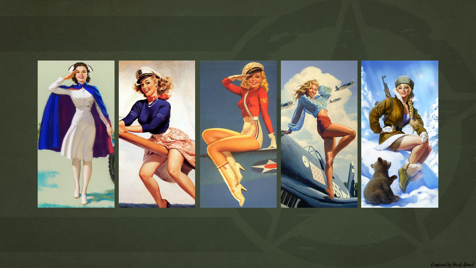 1920x1080 Army Themed Pin Up Wallpaper. 2 yrs · coolfield7 · r/Military