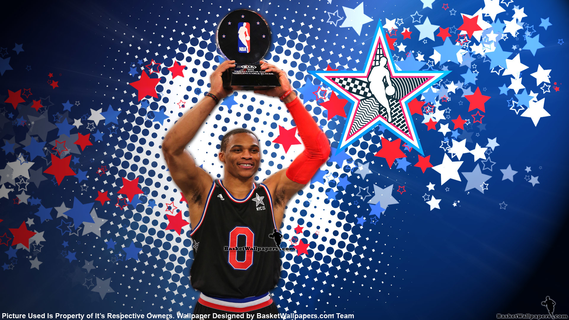 1920x1080 Russell Westbrook 2015 NBA All-Star MVP Wallpaper