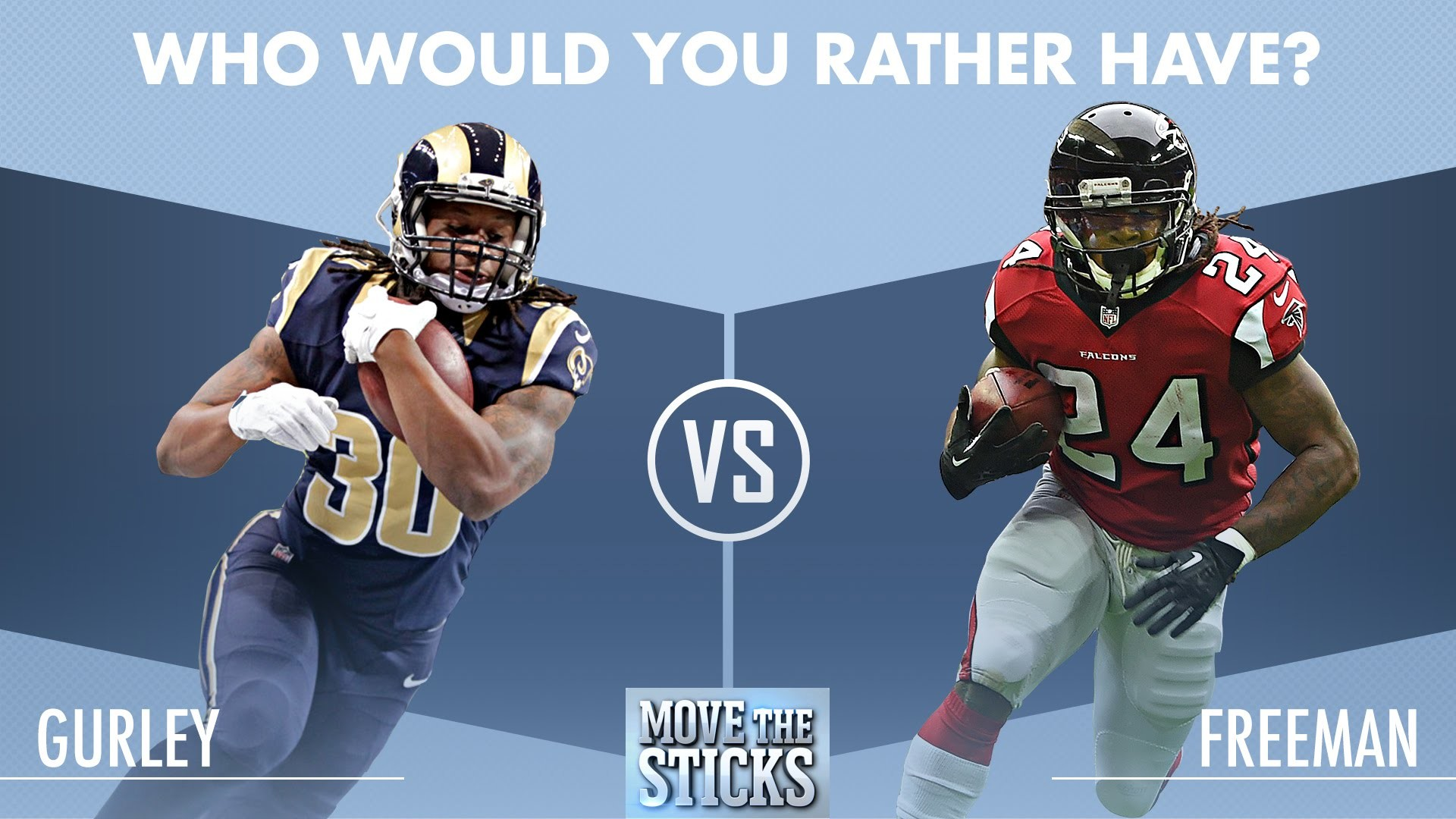 1920x1080 Who Would You Rather Have: Todd Gurley or Devonta Freeman? | Move the  Sticks | NFL - YouTube
