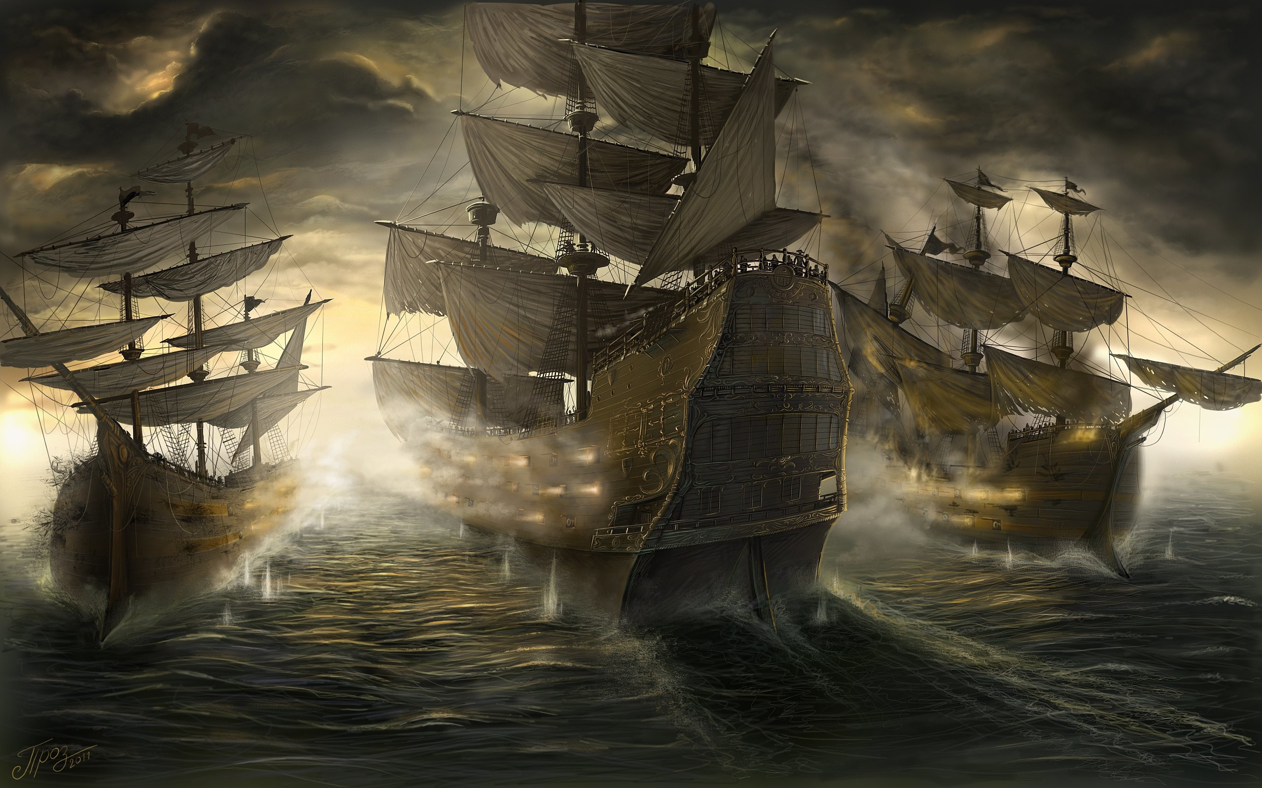 2560x1600 Battle Sailing Ship Fantasy boat war wallpaper |  | 437541 |  WallpaperUP
