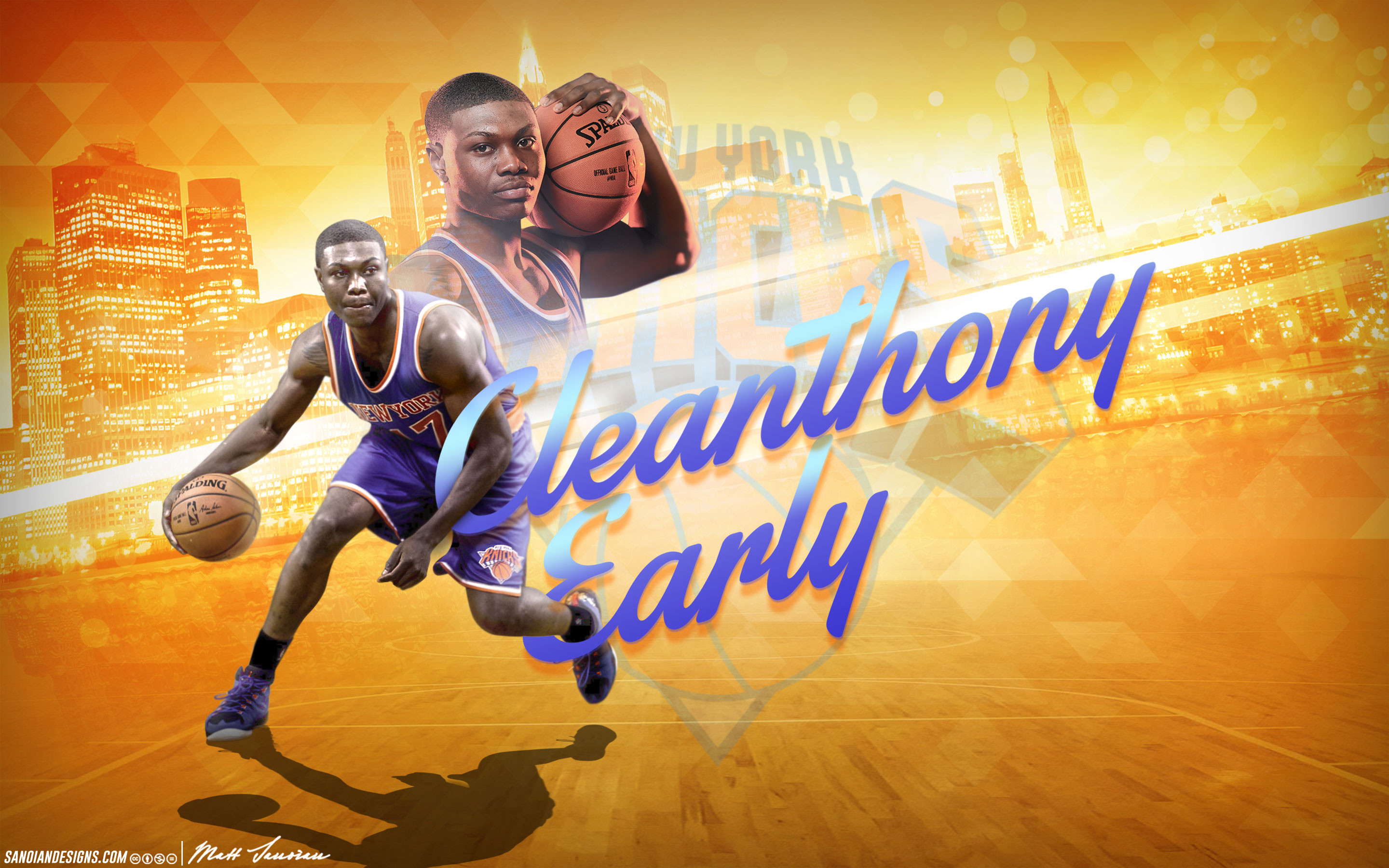 2880x1800 Cleanthony Early Knicks 2014 Wallpaper