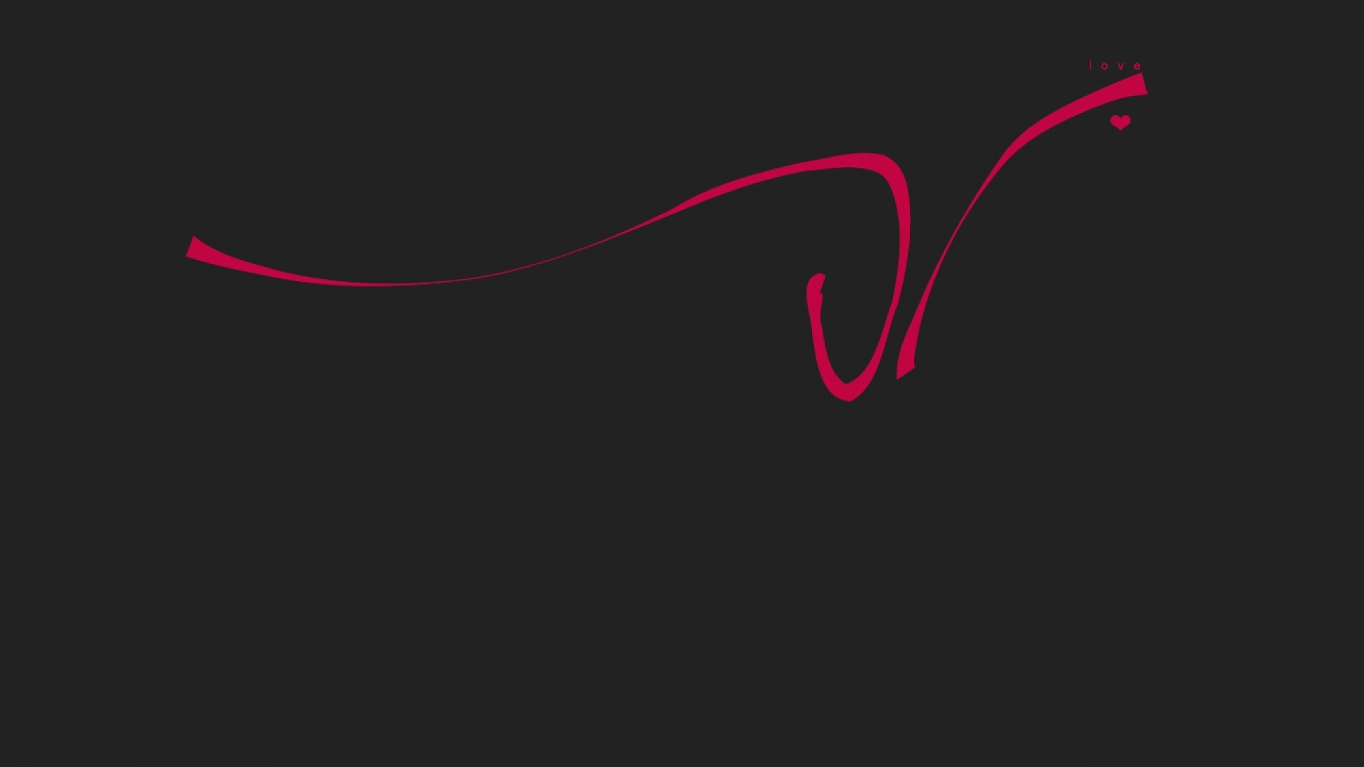 1920x1080 Preview wallpaper love, drawing, line, red, inscription, black