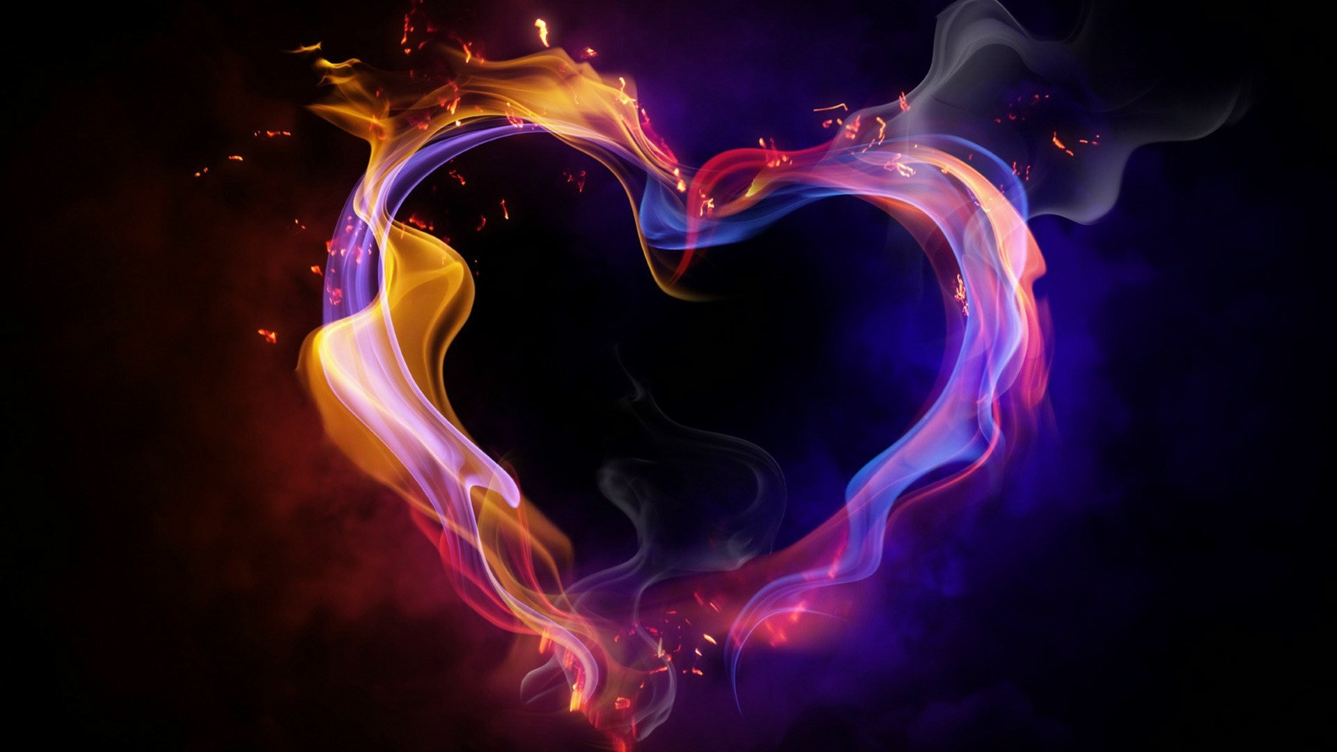 1920x1080 Hd  Cool Color Abstract Heart Desktop Wallpapers Backgrounds