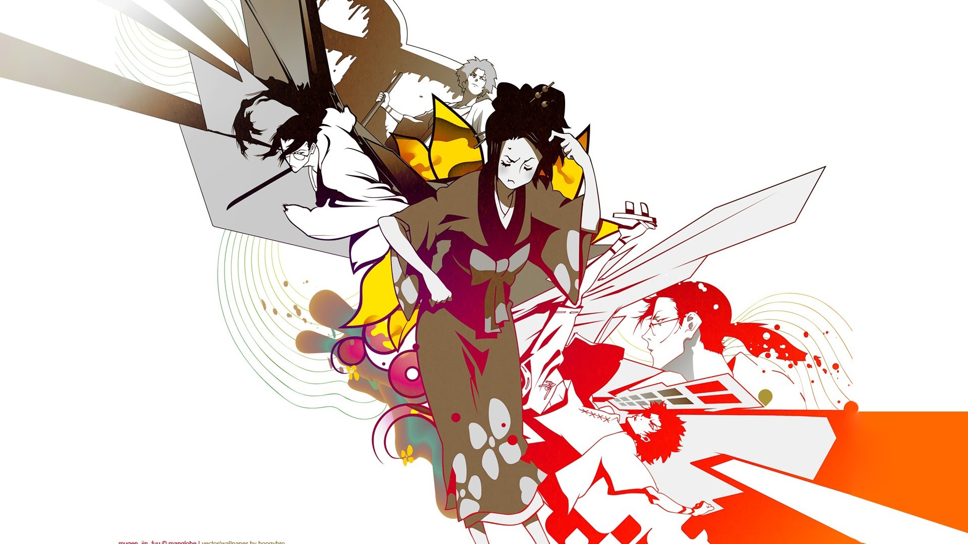 1920x1080 Samurai Champloo Mugen characters anime Fuu Japanese clothes anime girls  Jin Roh wallpaper |  | 222394 | WallpaperUP