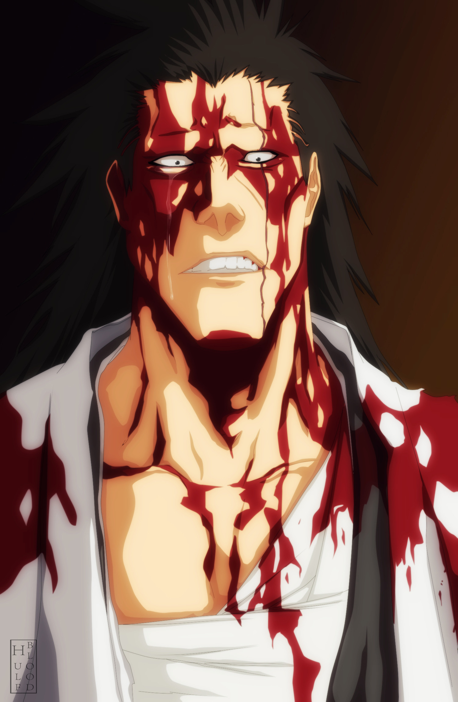 1500x2297 Tags: Anime, Hulfblood, BLEACH, Zaraki Kenpachi, Mobile Wallpaper, Bleach: