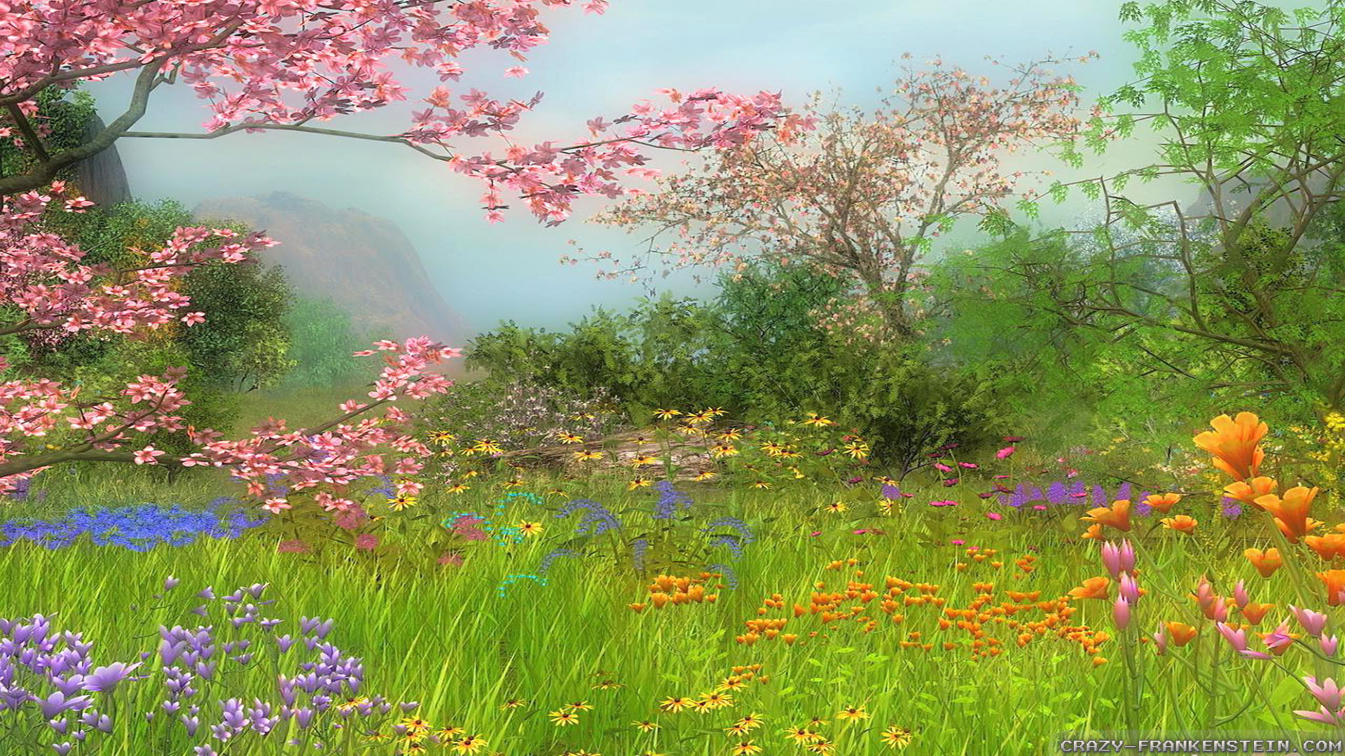 1920x1080 Wallpaper Wonderful Day Spring Scene Wallpapers Resolution 1024x768