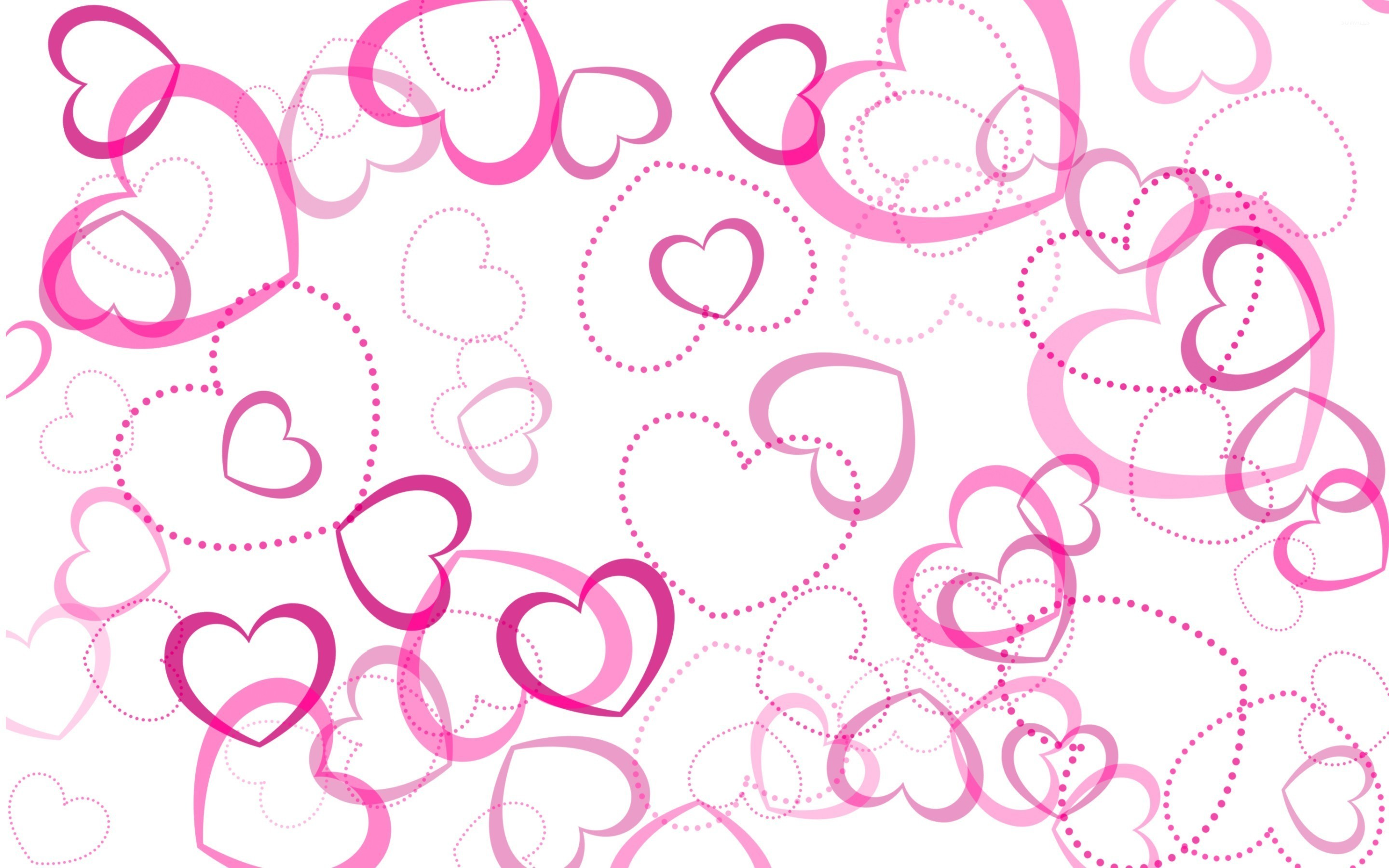 2880x1800 Pink hearts wallpaper
