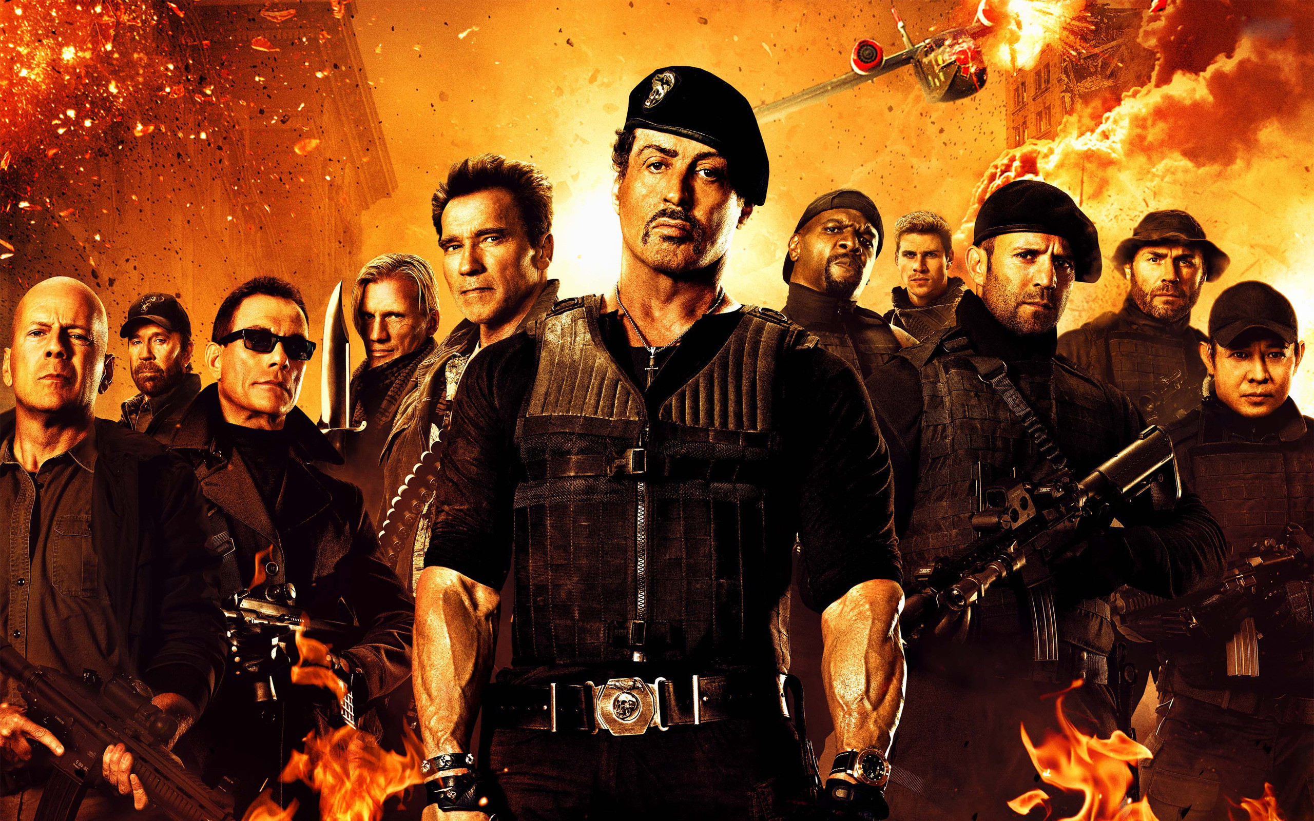 2560x1600 Movie - The Expendables 2 Barney Ross Sylvester Stallone Arnold  Schwarzenegger Trench (The Expendables)