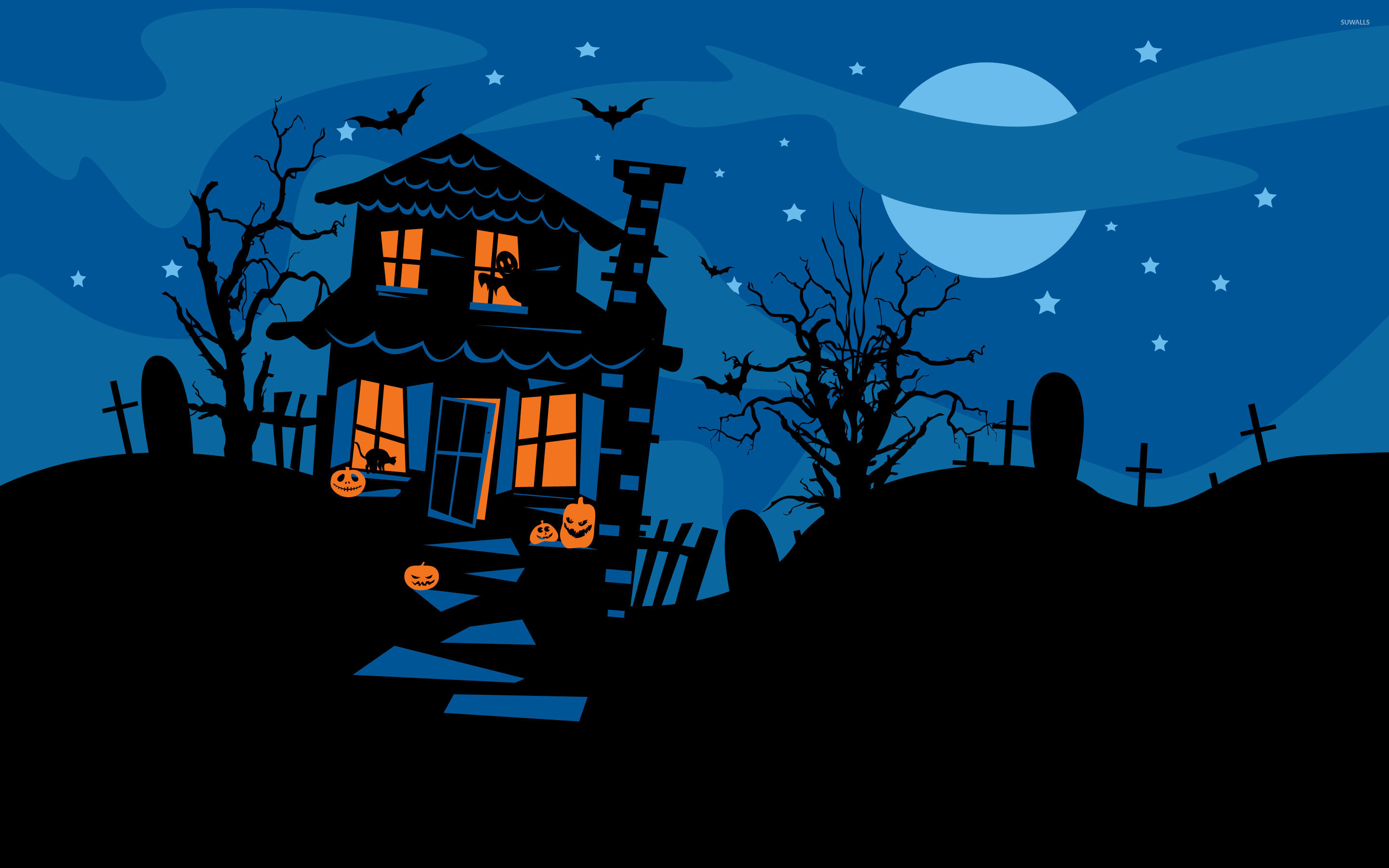 2880x1800 Haunted house [2] wallpaper