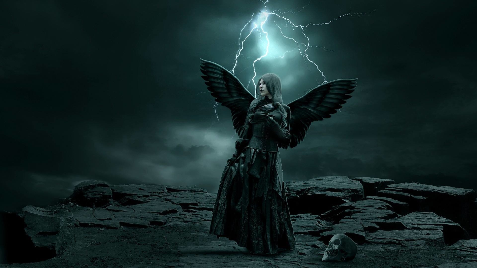 1920x1080 Dark - angel Wallpaper | Angels and fairies etc.... | Pinterest | Engelchen