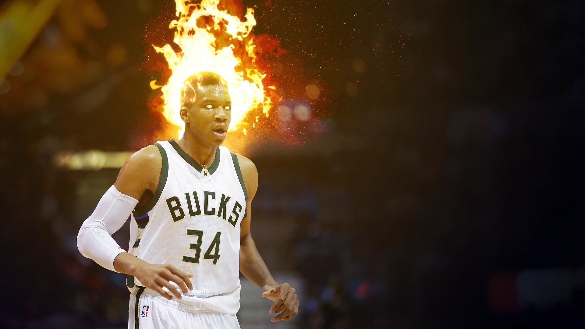 1920x1080 Giannis is on fire! [Wallpaper ] ...
