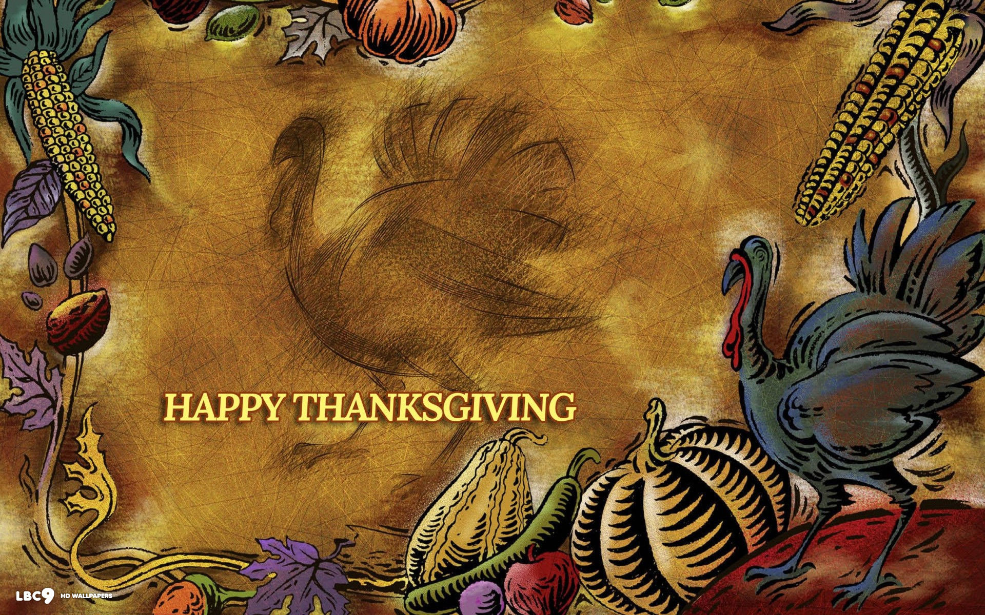 1920x1200 happy thanksgiving turkey pumpkin abstract art holiday 1920