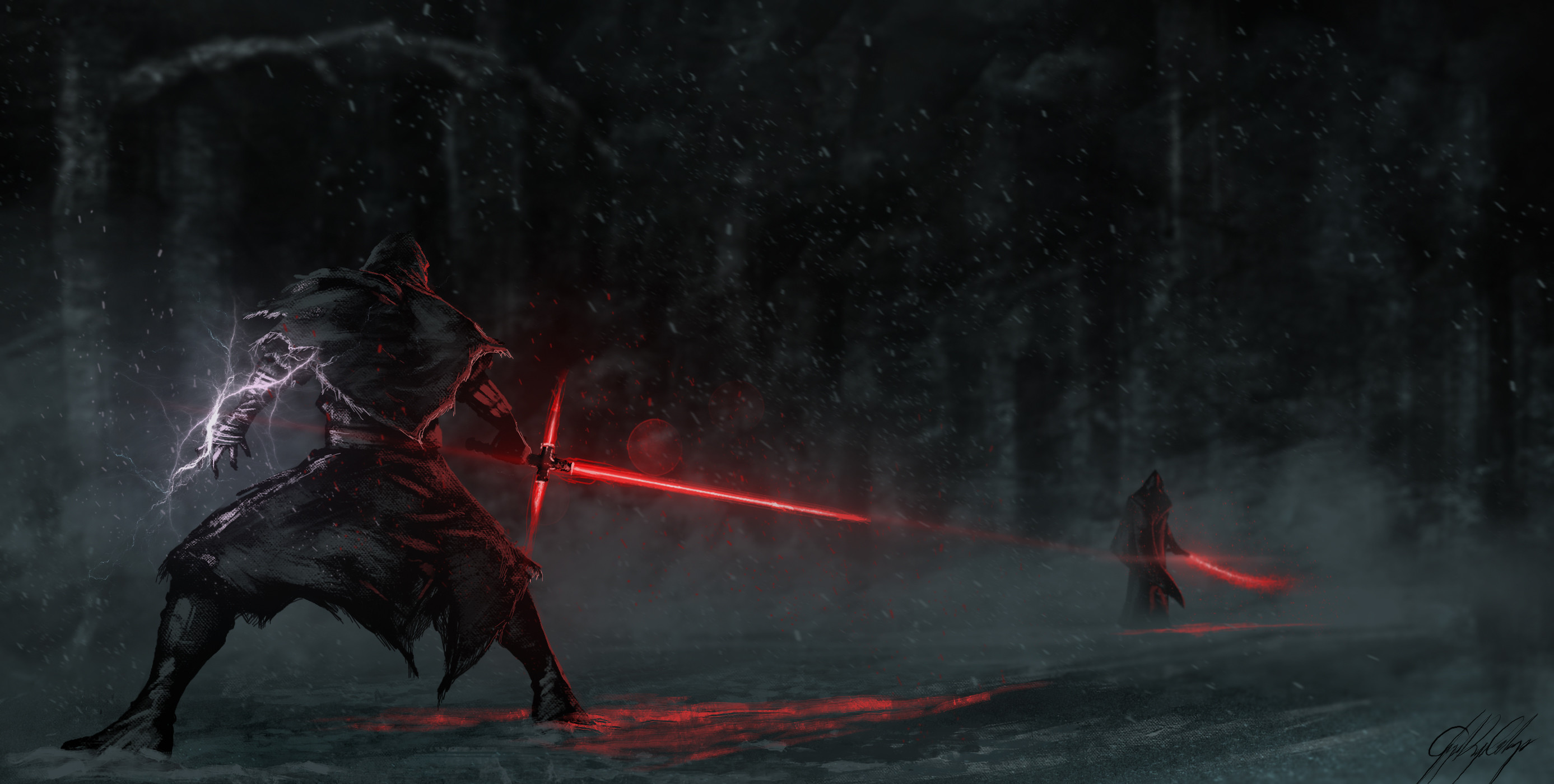 2774x1400 ... Sith Star Wars Yellow Eyes · HD Wallpaper | Background Image ID:669970