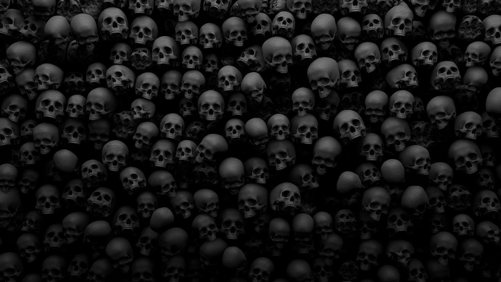 1920x1080 Skull Many Death Background HD Wallpaper