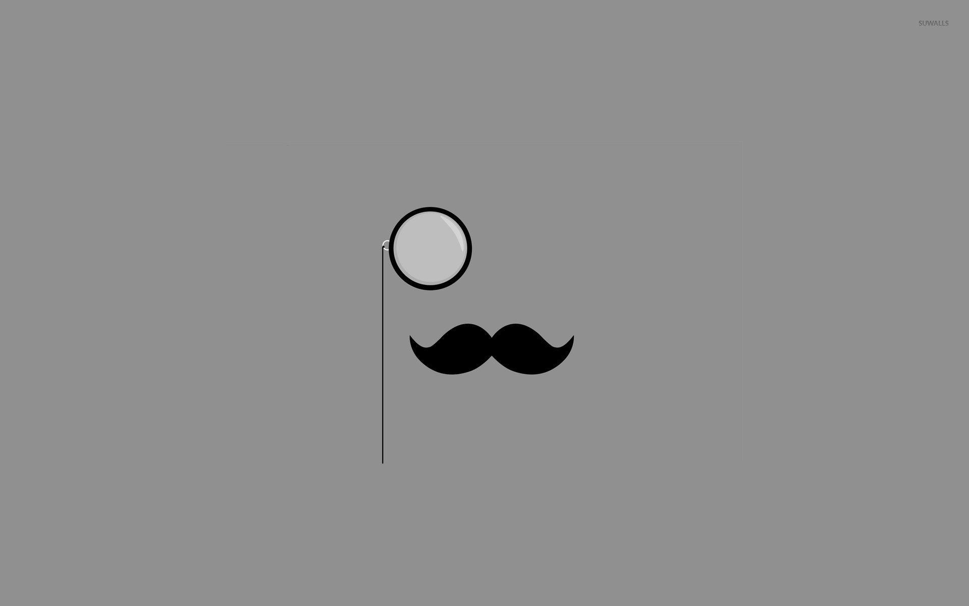 1920x1200 Monocle Mustache wallpaper Minimalistic wallpapers 15401