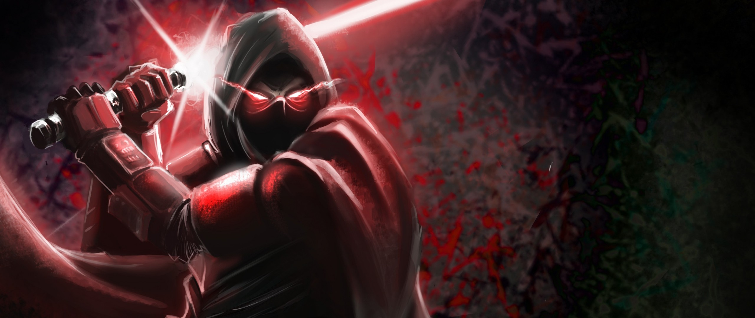 2560x1080  Wallpaper sith, star wars, art, dark side