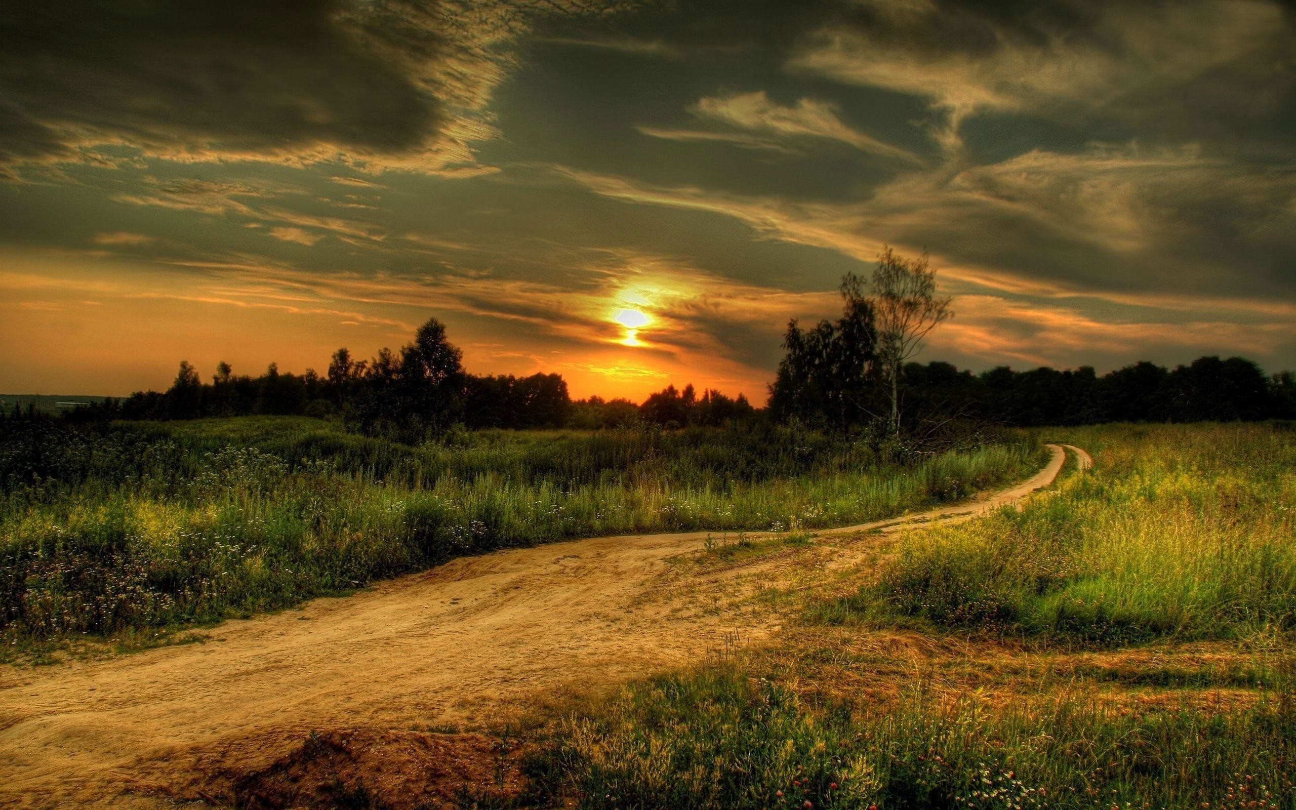 2560x1600 Country Road wallpaper - 1051254
