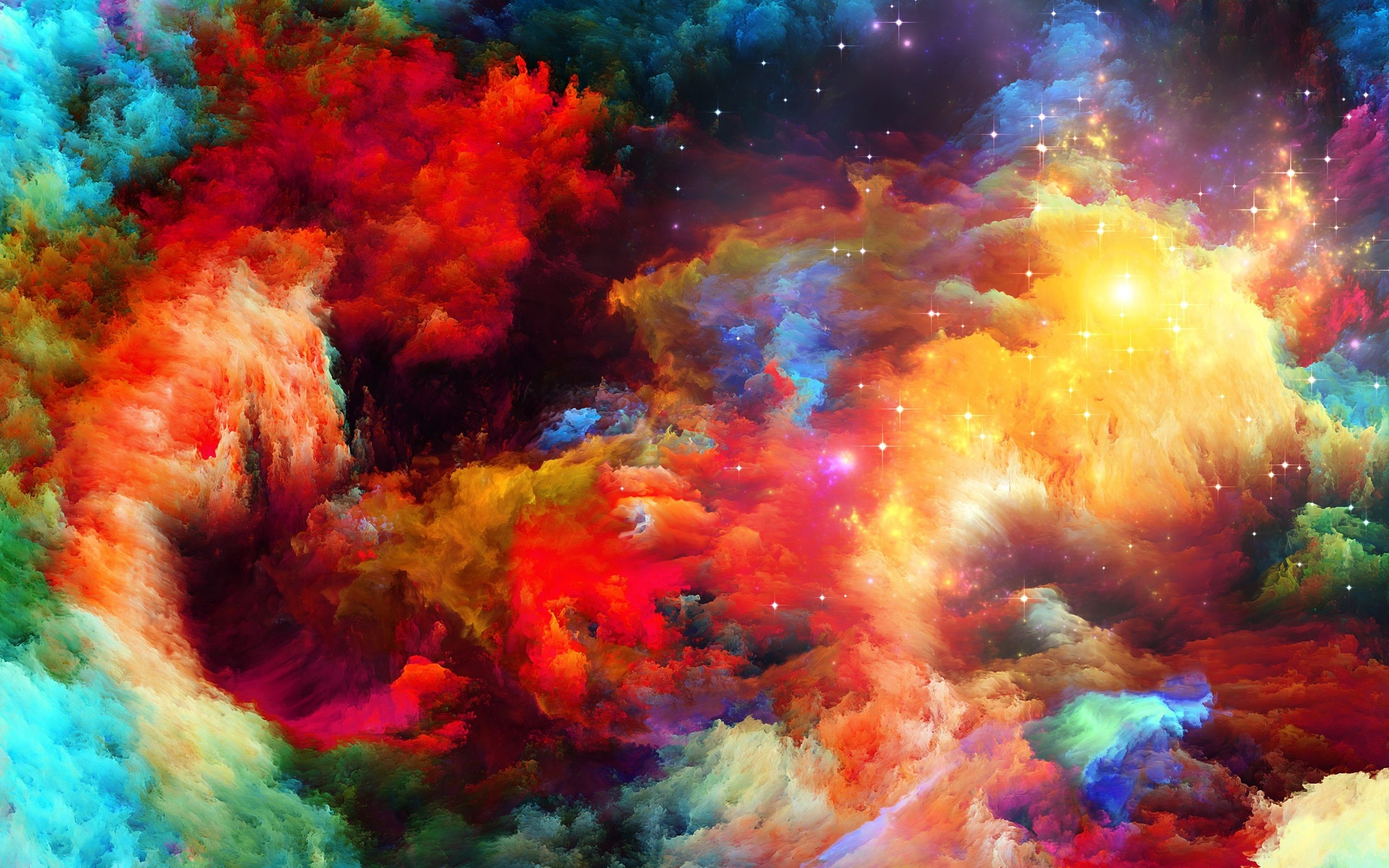 2560x1600 Rainbow Colors Background Wallpaper