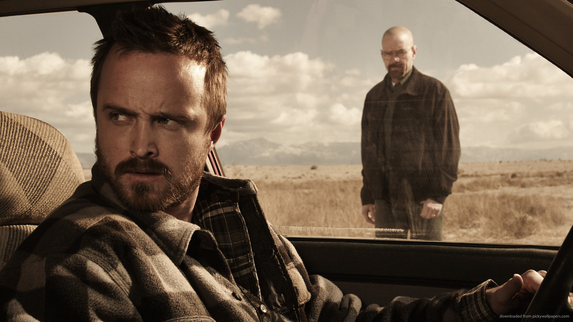 1920x1080 Breaking Bad Jesse In A Car for