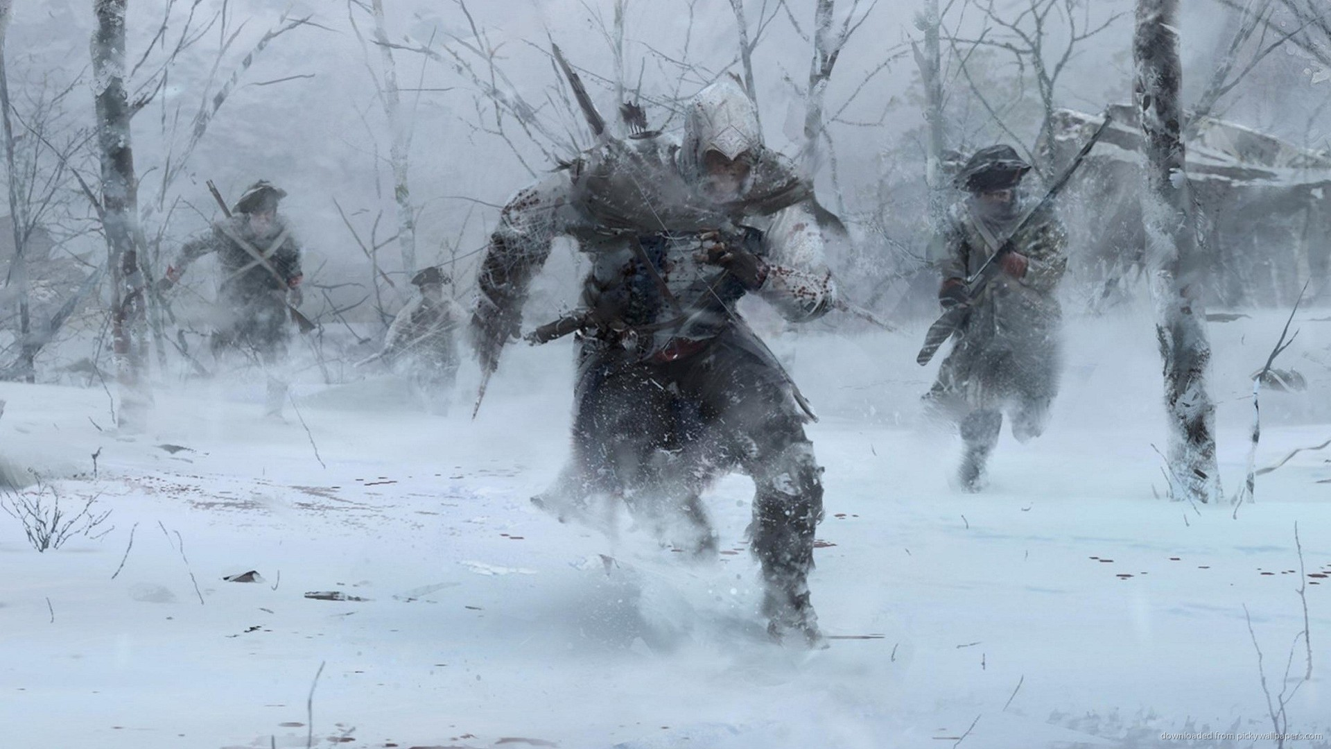1920x1080 Assassins Creed 3 Winter Forest Run for
