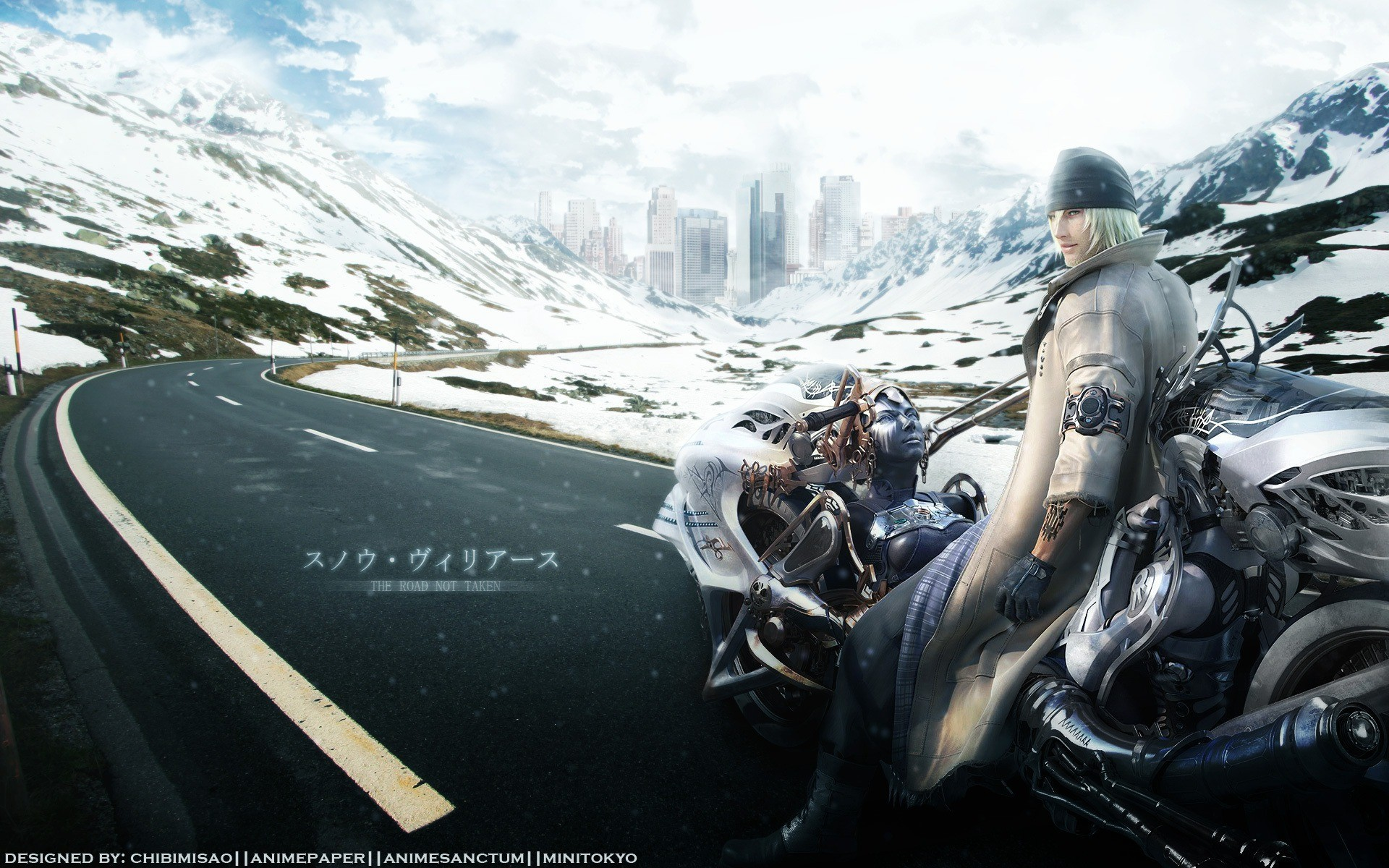 1920x1200 Motorcyclist in a role-playing game Final Fantasy VI