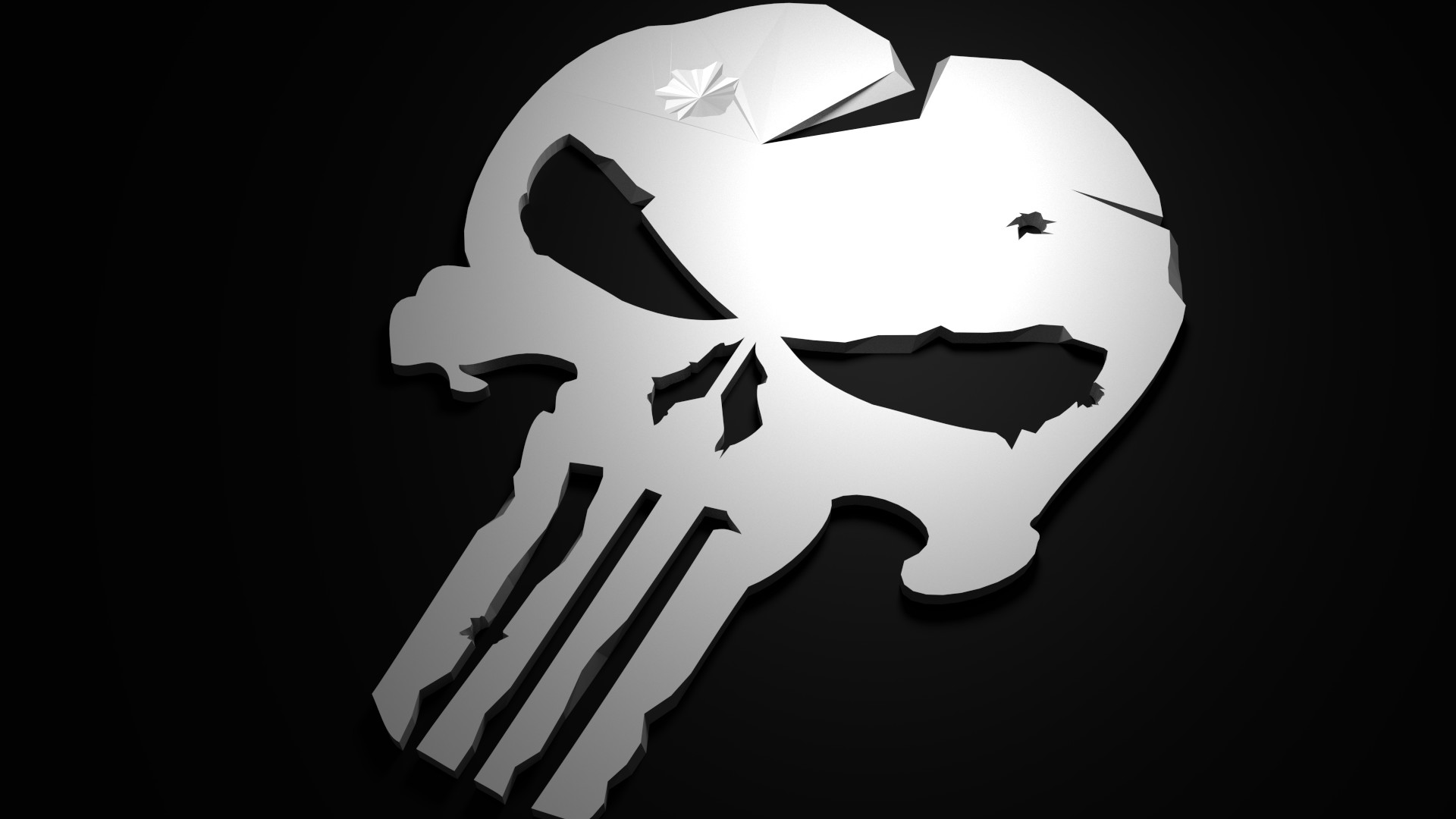 1920x1080 Low Poly Punisher (1920 x 1080) HD Wallpaper From Gallsource.com