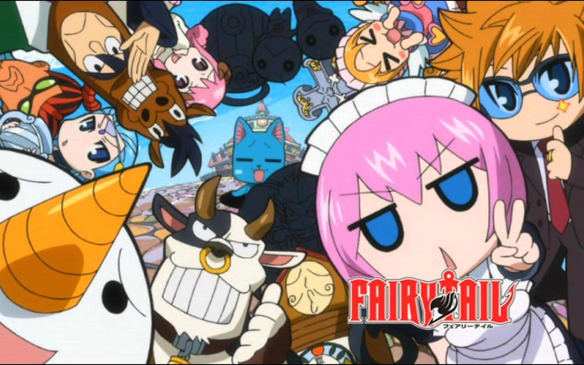 1920x1200 Fairy tail spirits and Happy