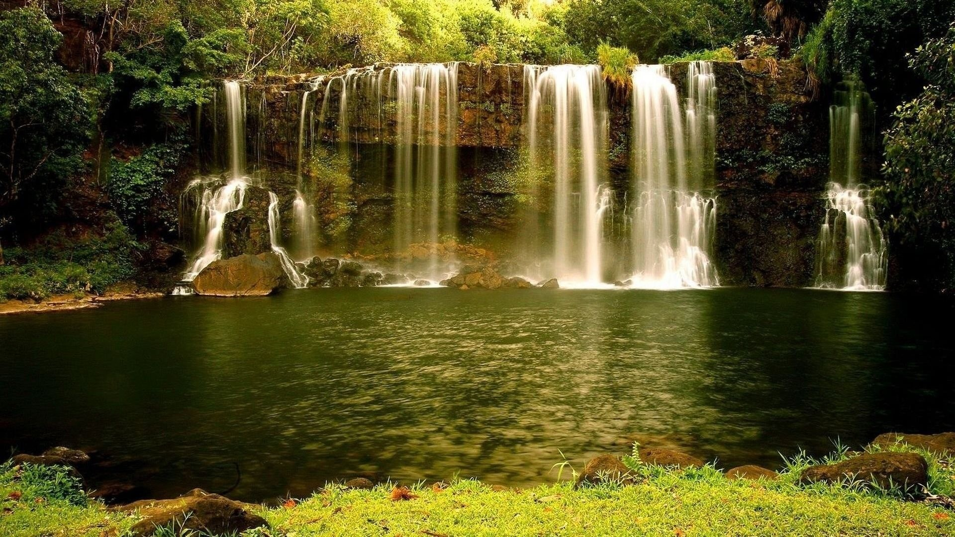 Animated waterfall wallpaper with sound 46 images for Cascadas con piedras naturales