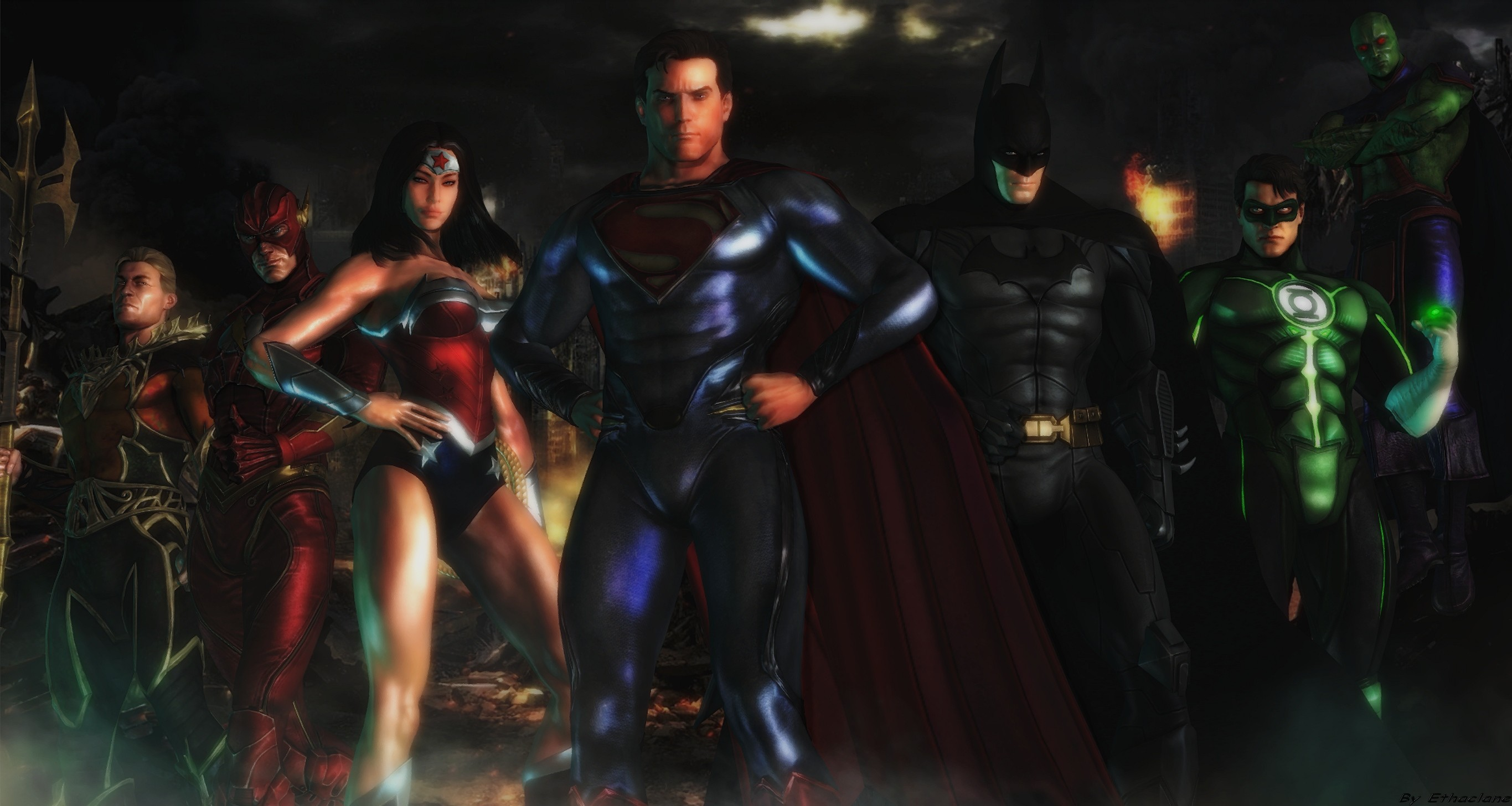 2731x1456 Justice league wallpaper by ethaclane Justice league wallpaper by ethaclane