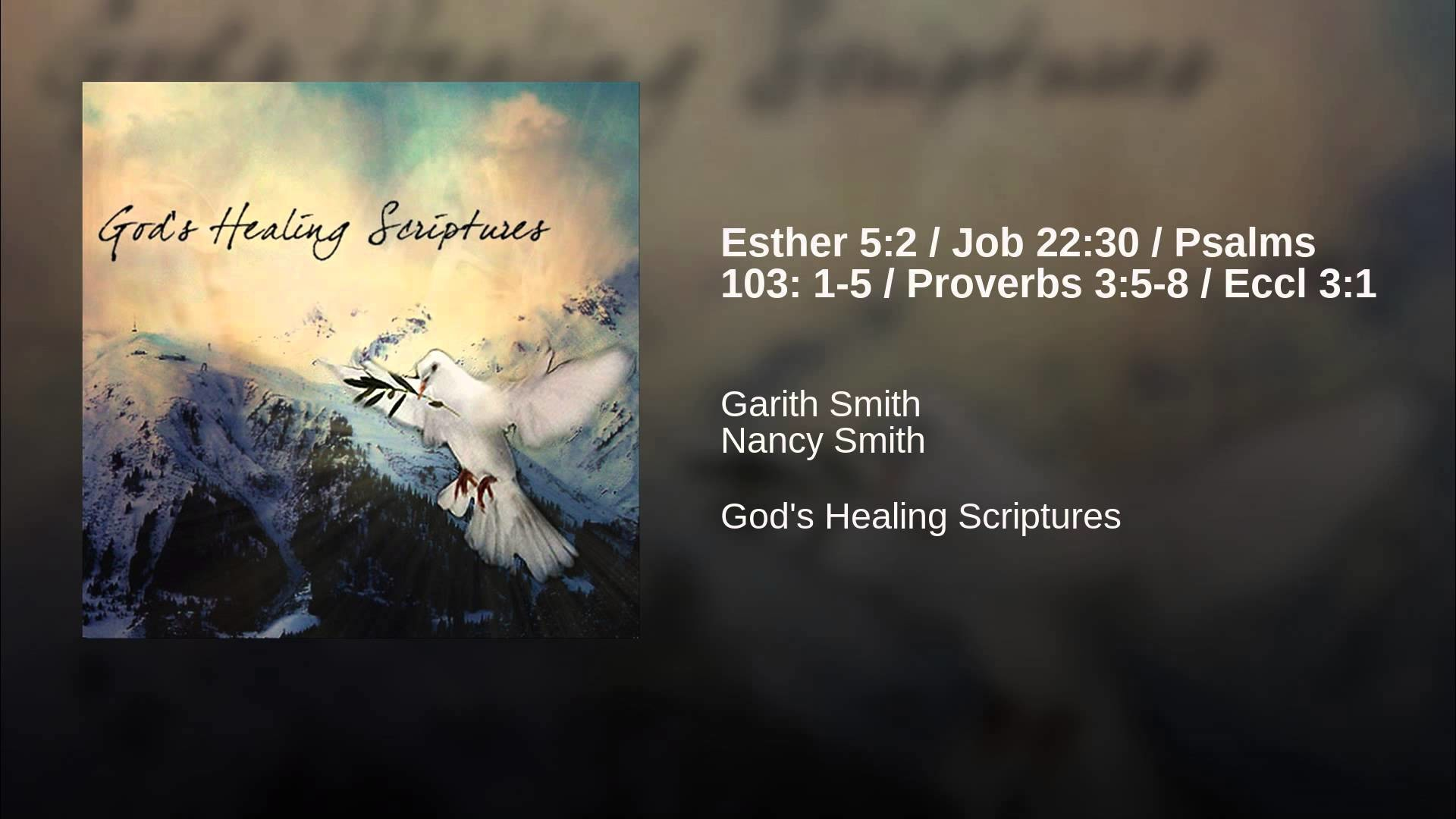 1920x1080 Esther 5:2 / Job 22:30 / Psalms 103: 1-5 / Proverbs 3:5-8 / Eccl 3:1