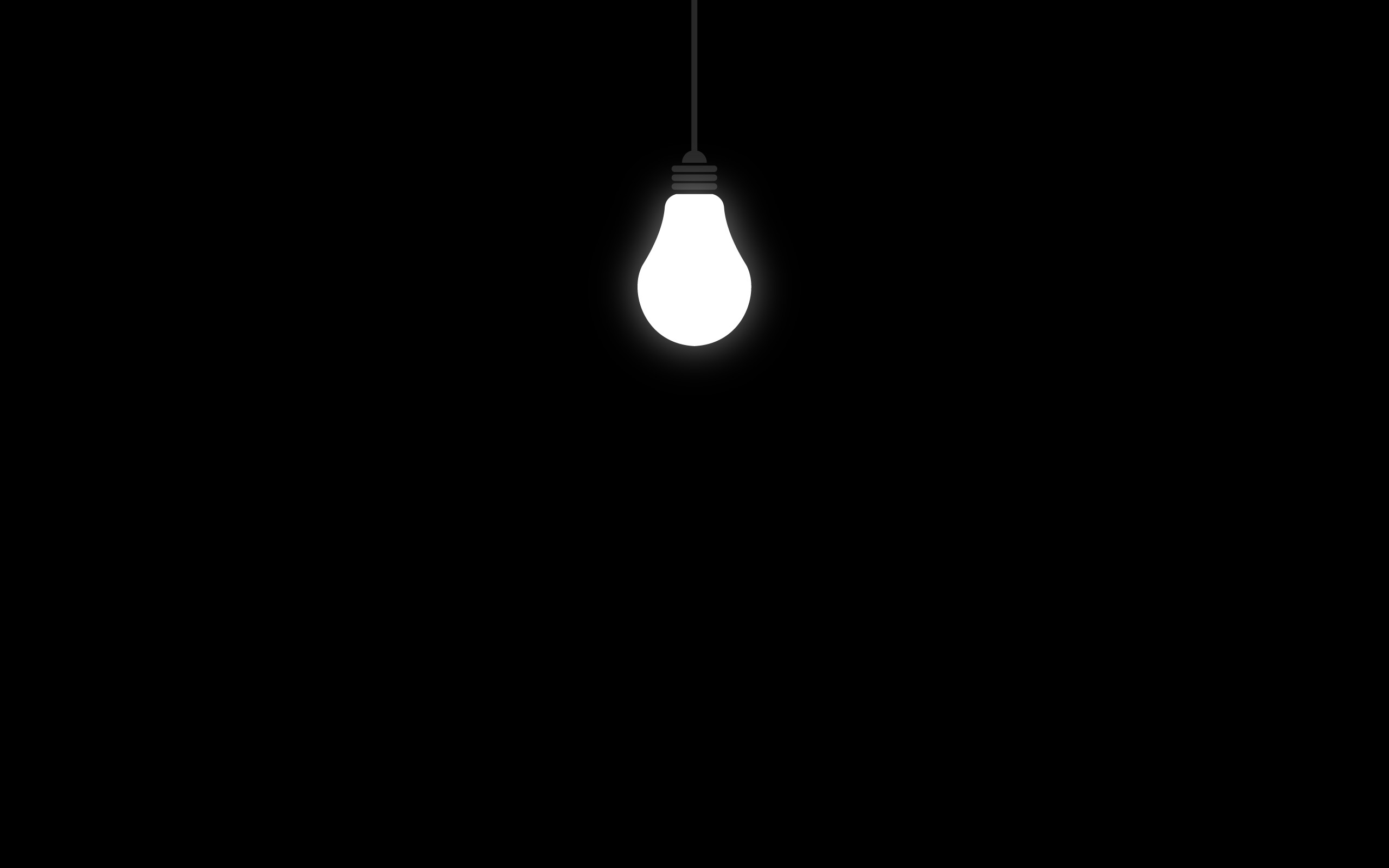 2560x1600 Lonely Light bulb
