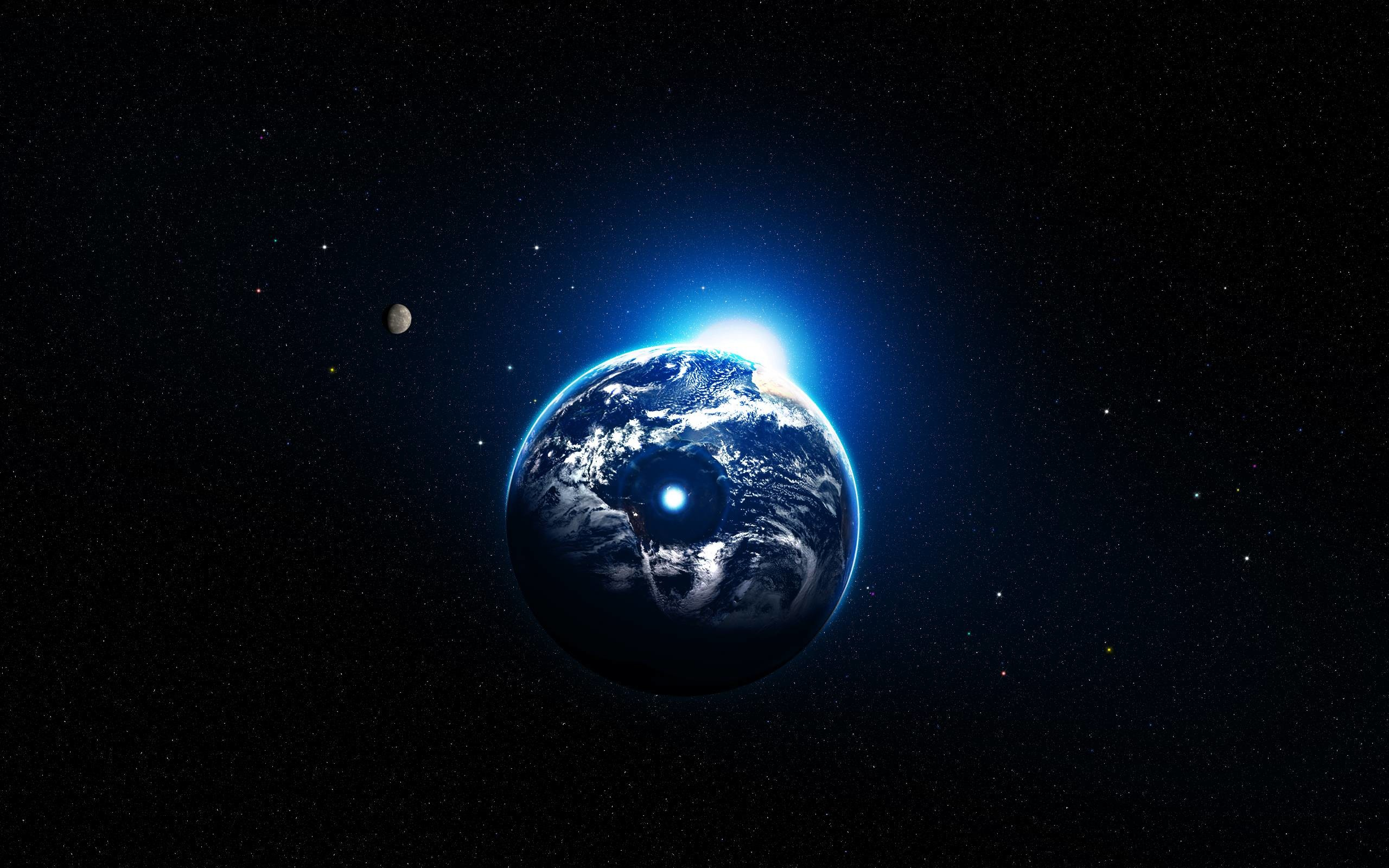 Art Space Earth atmosphere moons moon planet planets space wallpaper