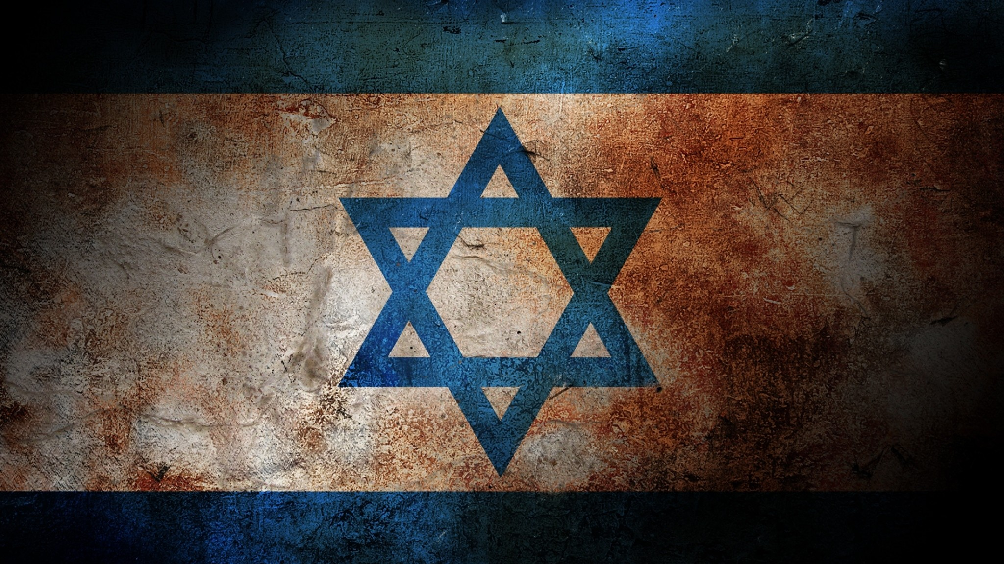 2048x1152 Preview wallpaper flag, israel, color, surface, paint