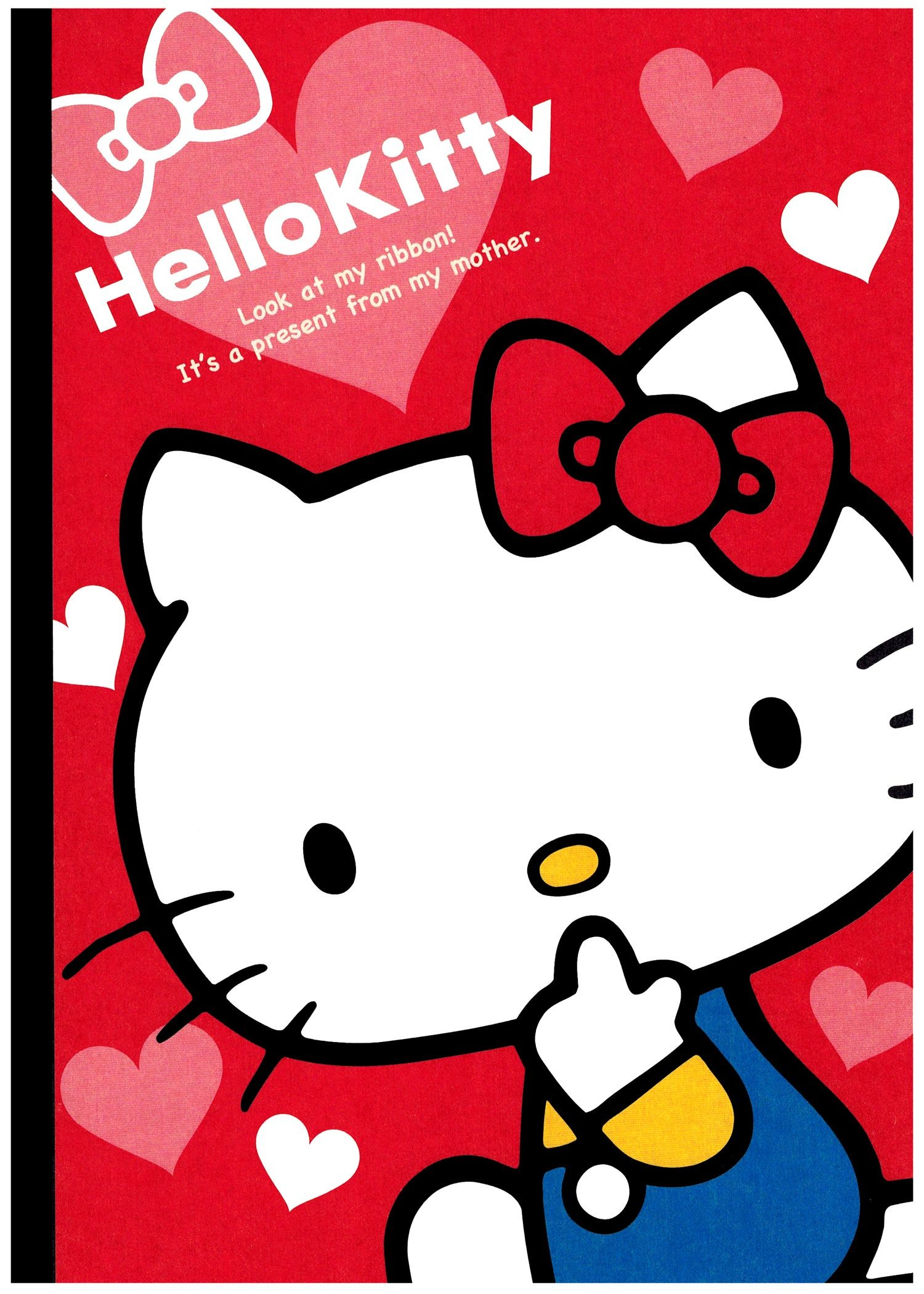 1500x2100 Sanrio Hello Kitty Red Ribbon B5 Notebook Kawaii Stationery, Hello Kitty  Wallpaper, Sanrio Hello