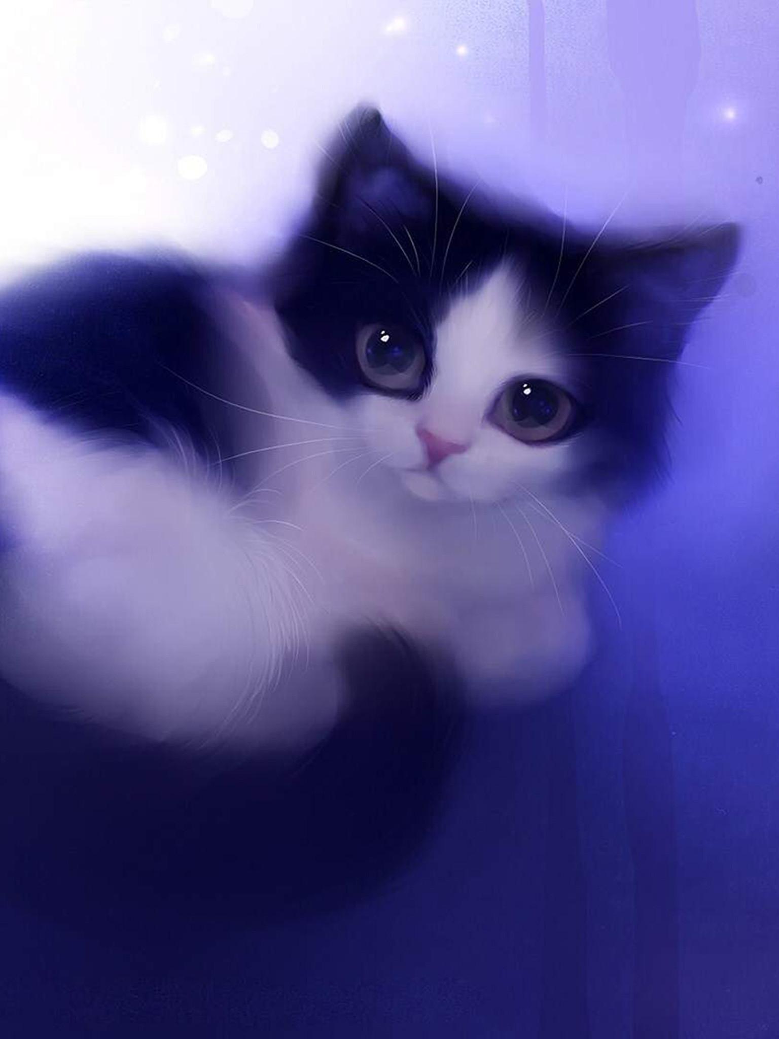 Cute Cartoon Cat Wallpaper Iphone The Best Cat 2018