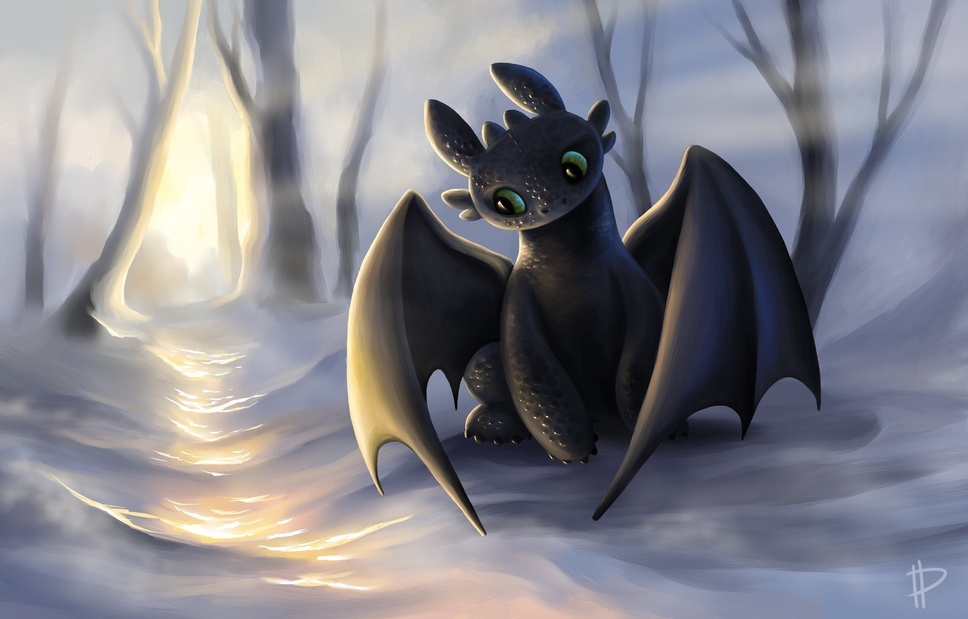 1920x1200 Toothless the Night Fury wallpaper - Click picture for high resolution HD wallpaper