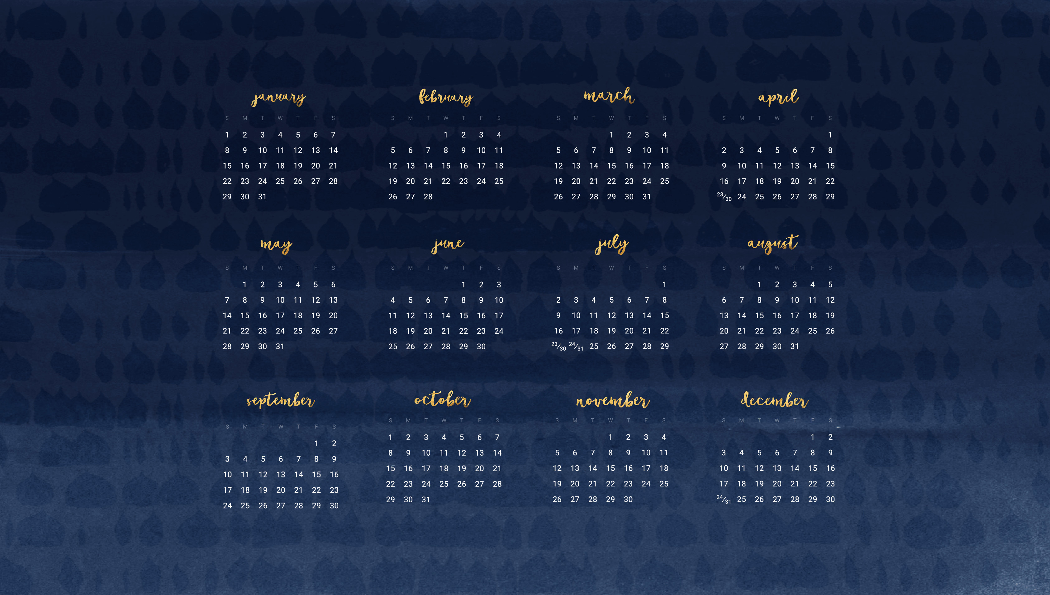 Desktop Wallpaper Calendar 2018 (59+